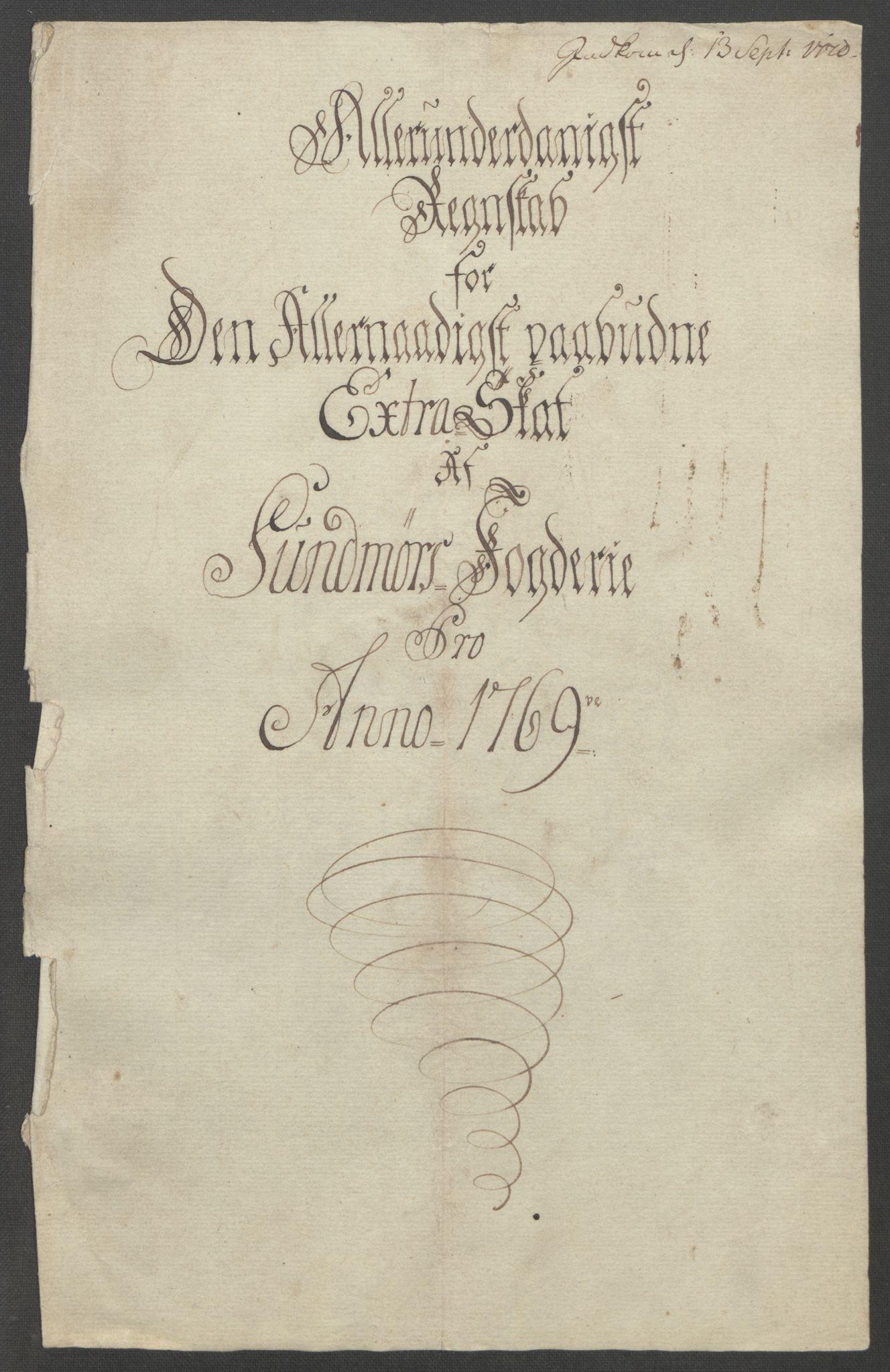 RA, Rentekammeret inntil 1814, Reviderte regnskaper, Fogderegnskap, R54/L3645: Ekstraskatten Sunnmøre, 1762-1772, s. 138