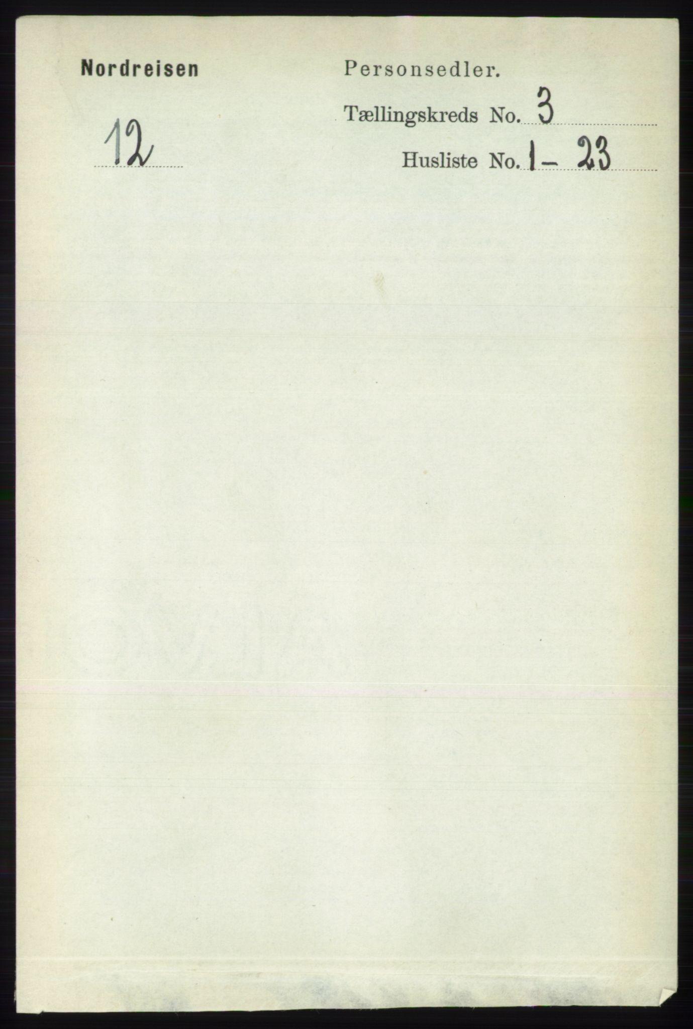 RA, Folketelling 1891 for 1942 Nordreisa herred, 1891, s. 1324