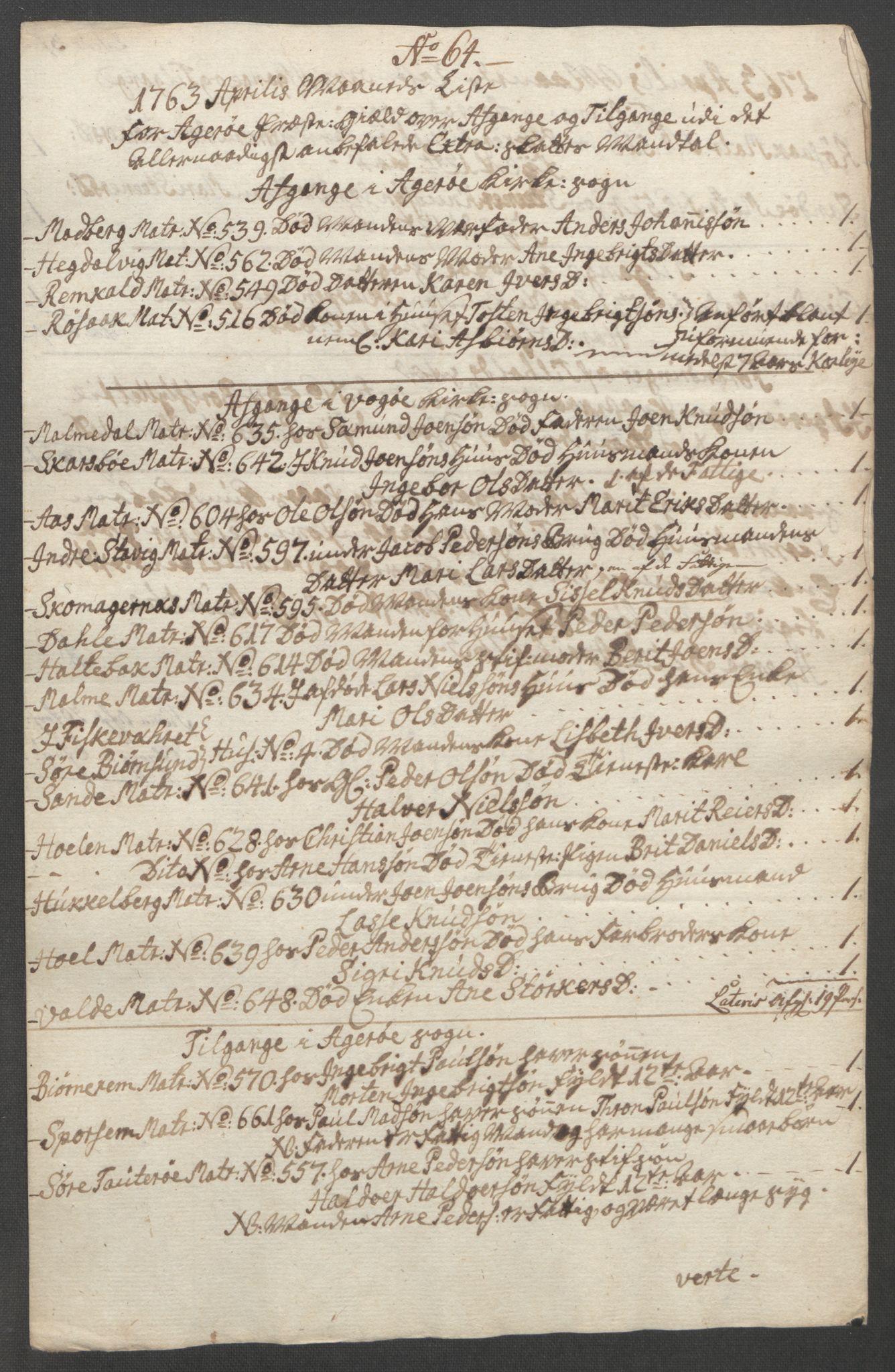 RA, Rentekammeret inntil 1814, Reviderte regnskaper, Fogderegnskap, R55/L3730: Ekstraskatten Romsdal, 1762-1763, s. 497