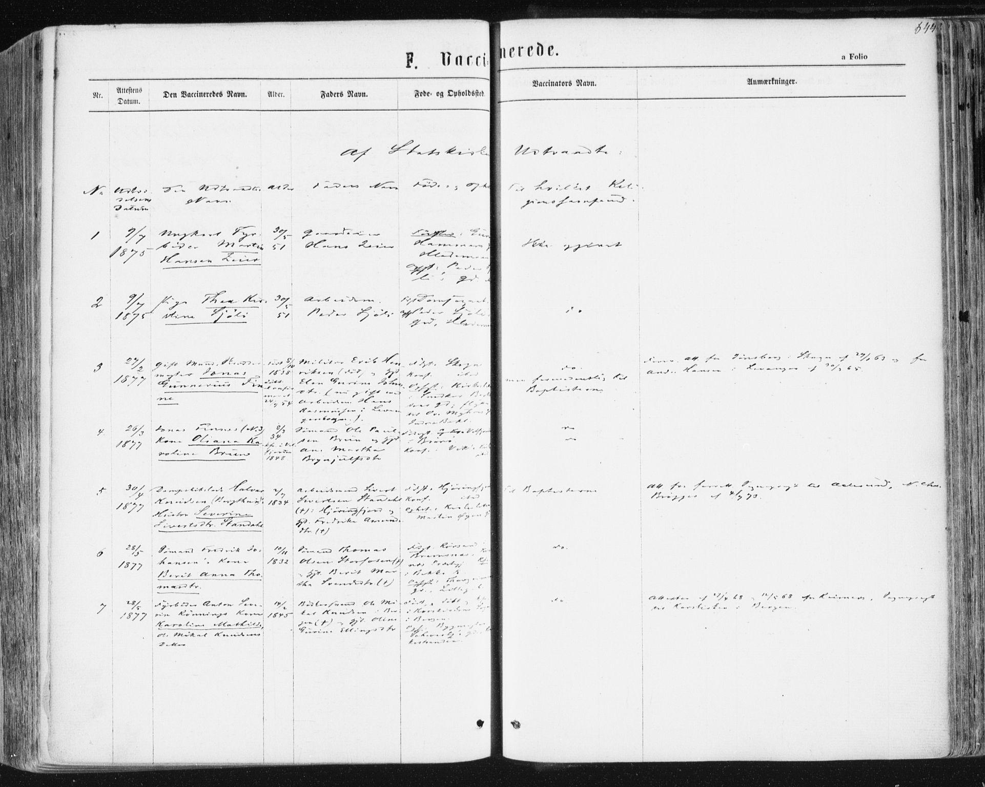 SAT, Ministerialprotokoller, klokkerbøker og fødselsregistre - Sør-Trøndelag, 604/L0186: Ministerialbok nr. 604A07, 1866-1877, s. 644