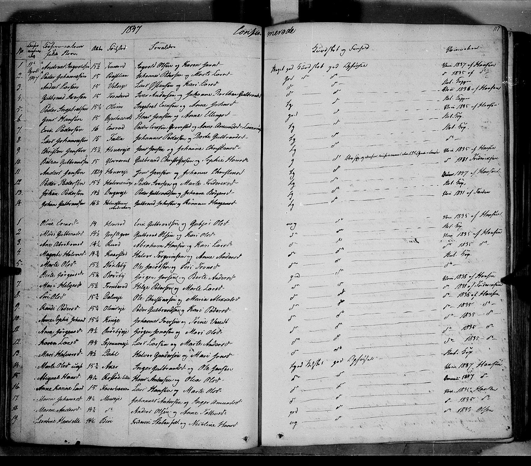 SAH, Jevnaker prestekontor, Ministerialbok nr. 6, 1837-1857, s. 117