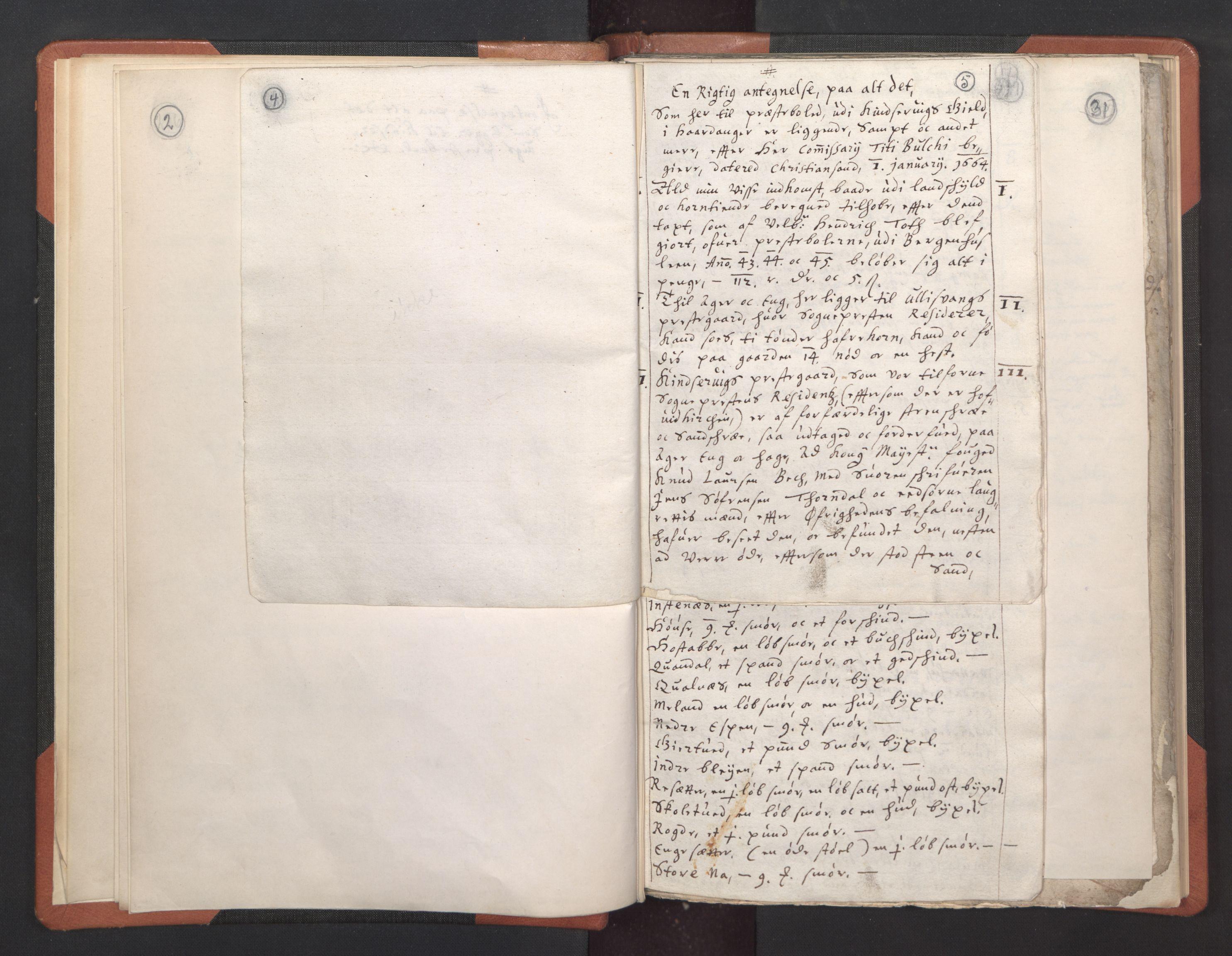 RA, Sogneprestenes manntall 1664-1666, nr. 21: Hardanger prosti, 1664-1666, s. 4-5