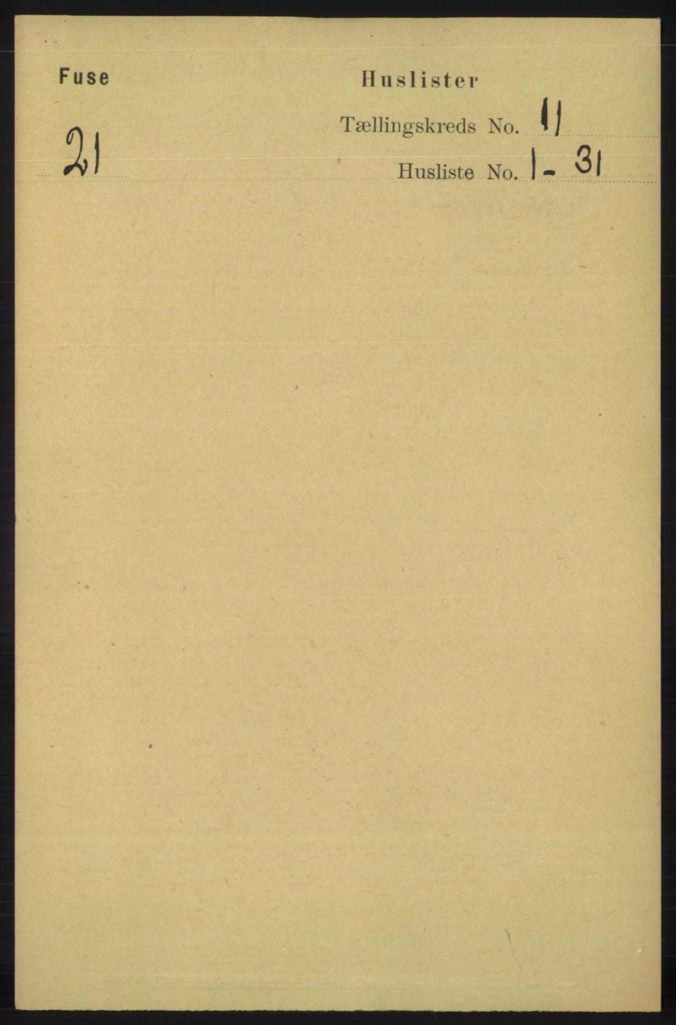 RA, Folketelling 1891 for 1241 Fusa herred, 1891, s. 2085