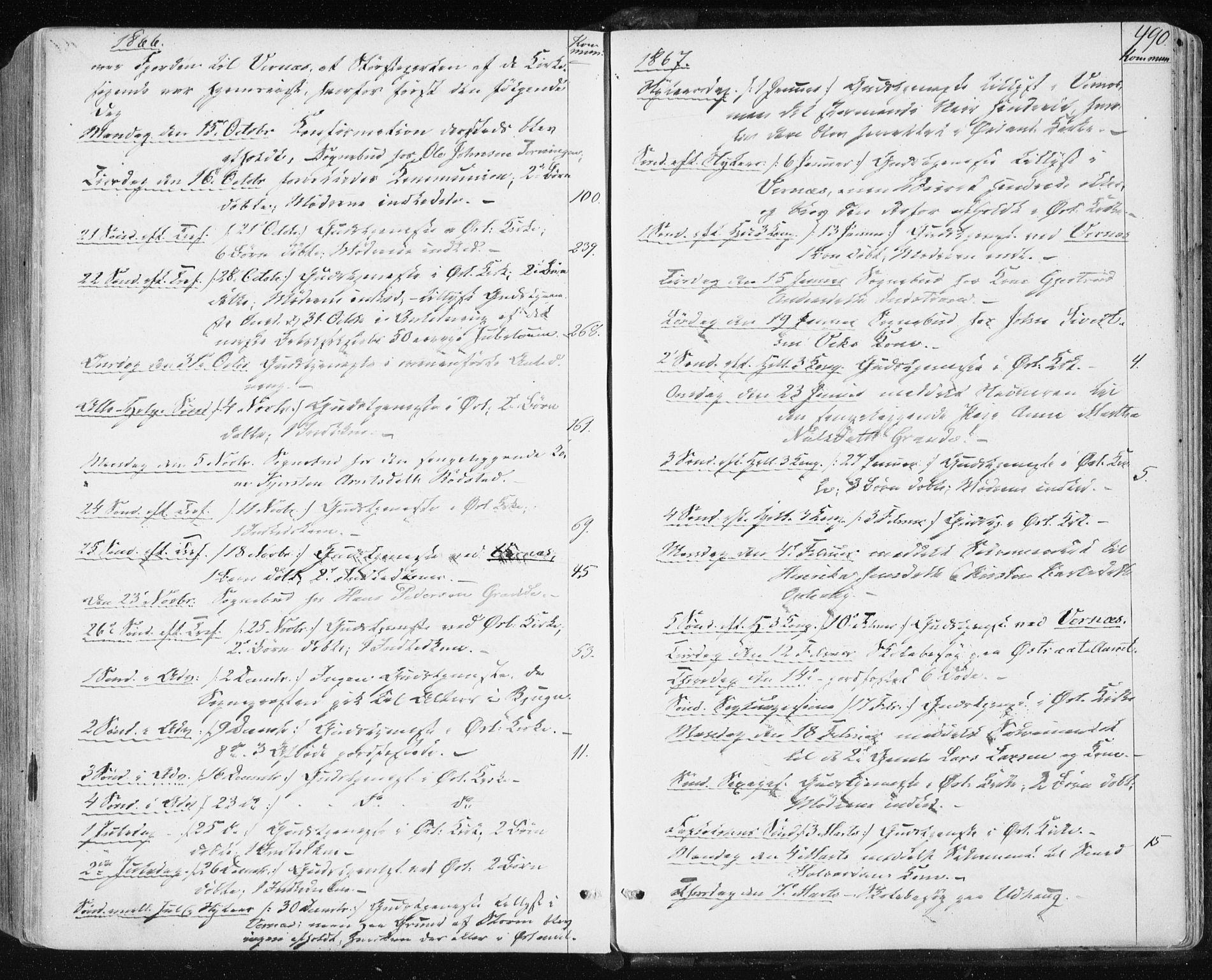 SAT, Ministerialprotokoller, klokkerbøker og fødselsregistre - Sør-Trøndelag, 659/L0737: Ministerialbok nr. 659A07, 1857-1875, s. 490