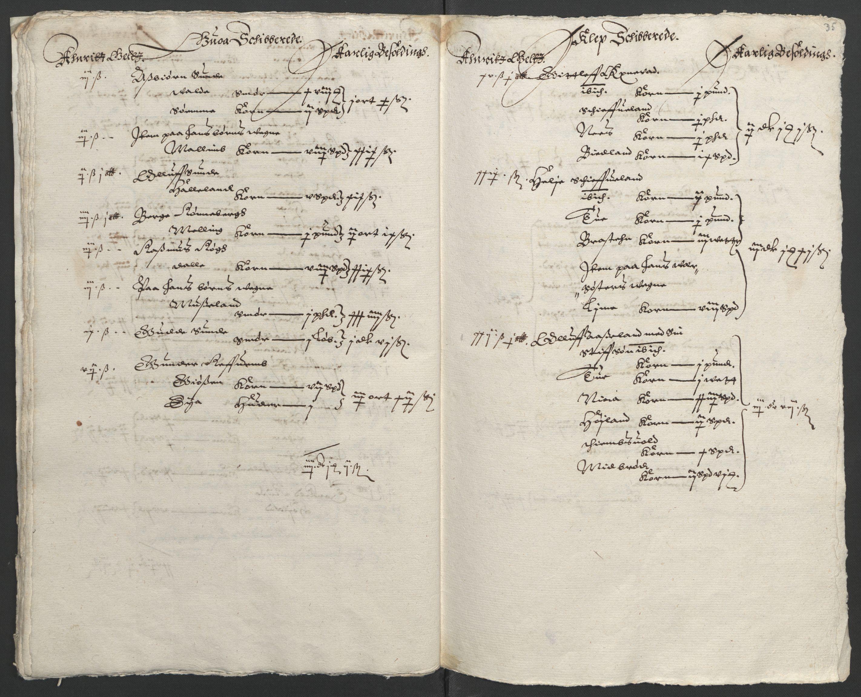 RA, Stattholderembetet 1572-1771, Ek/L0010: Jordebøker til utlikning av rosstjeneste 1624-1626:, 1624-1626, s. 129