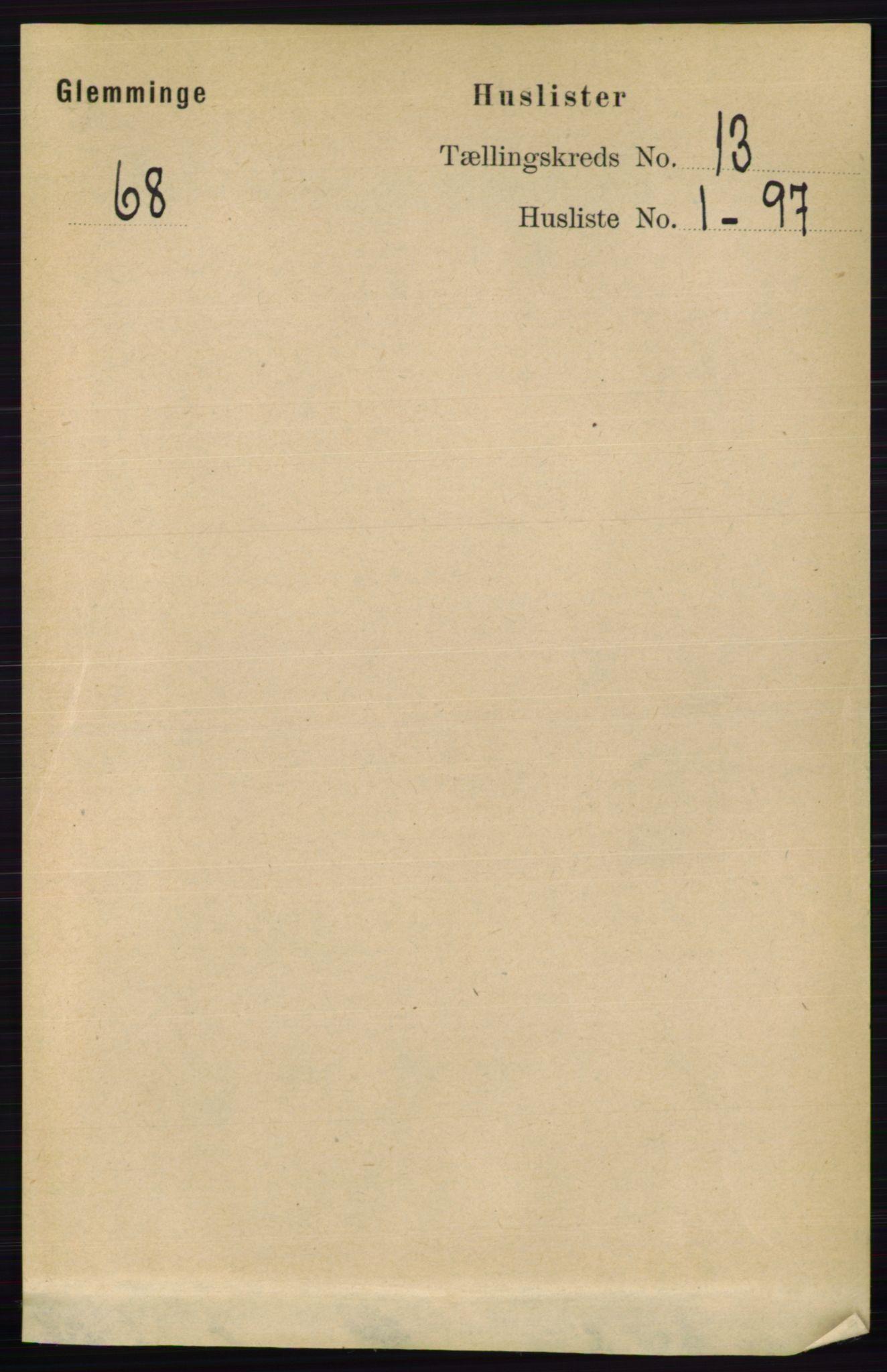 RA, Folketelling 1891 for 0132 Glemmen herred, 1891, s. 11065