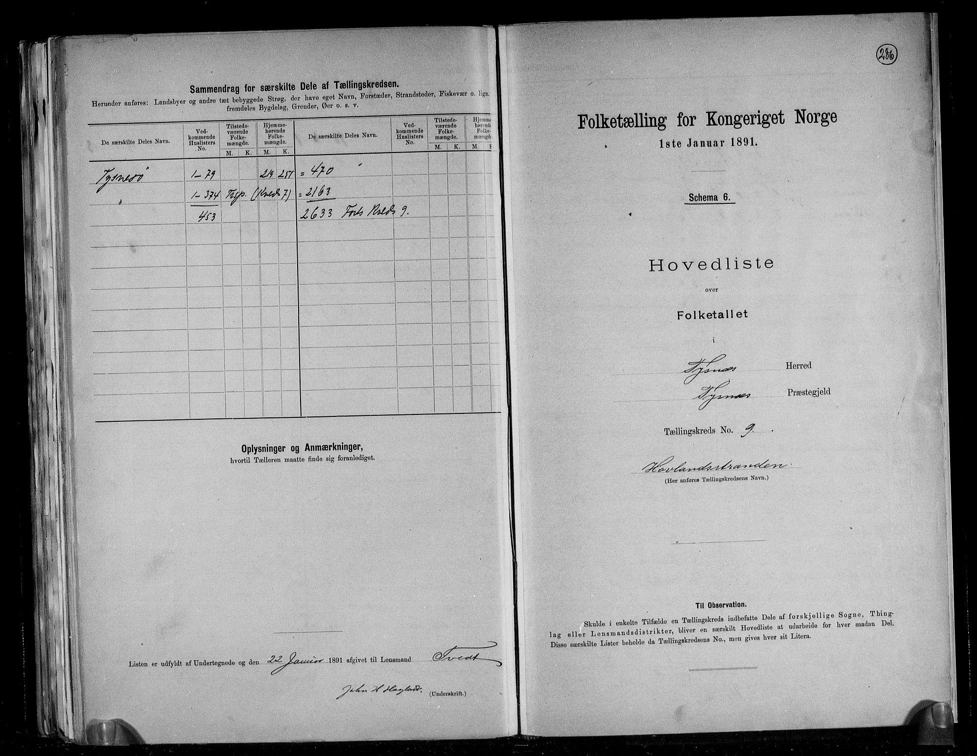 RA, Folketelling 1891 for 1223 Tysnes herred, 1891, s. 24