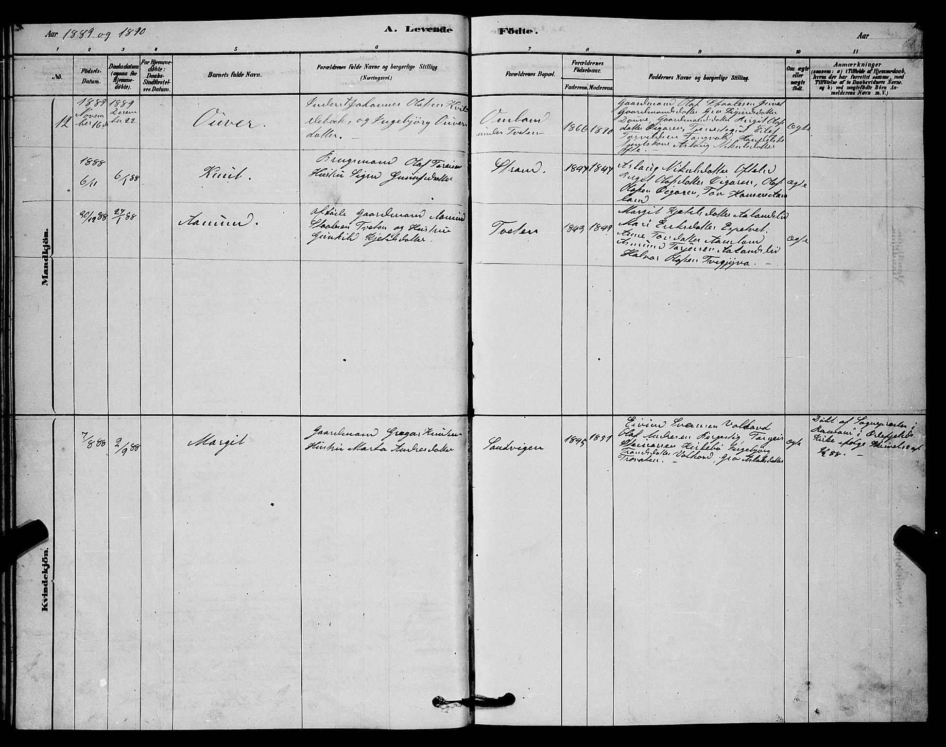 SAKO, Lårdal kirkebøker, G/Gc/L0003: Klokkerbok nr. III 3, 1878-1890, s. 21