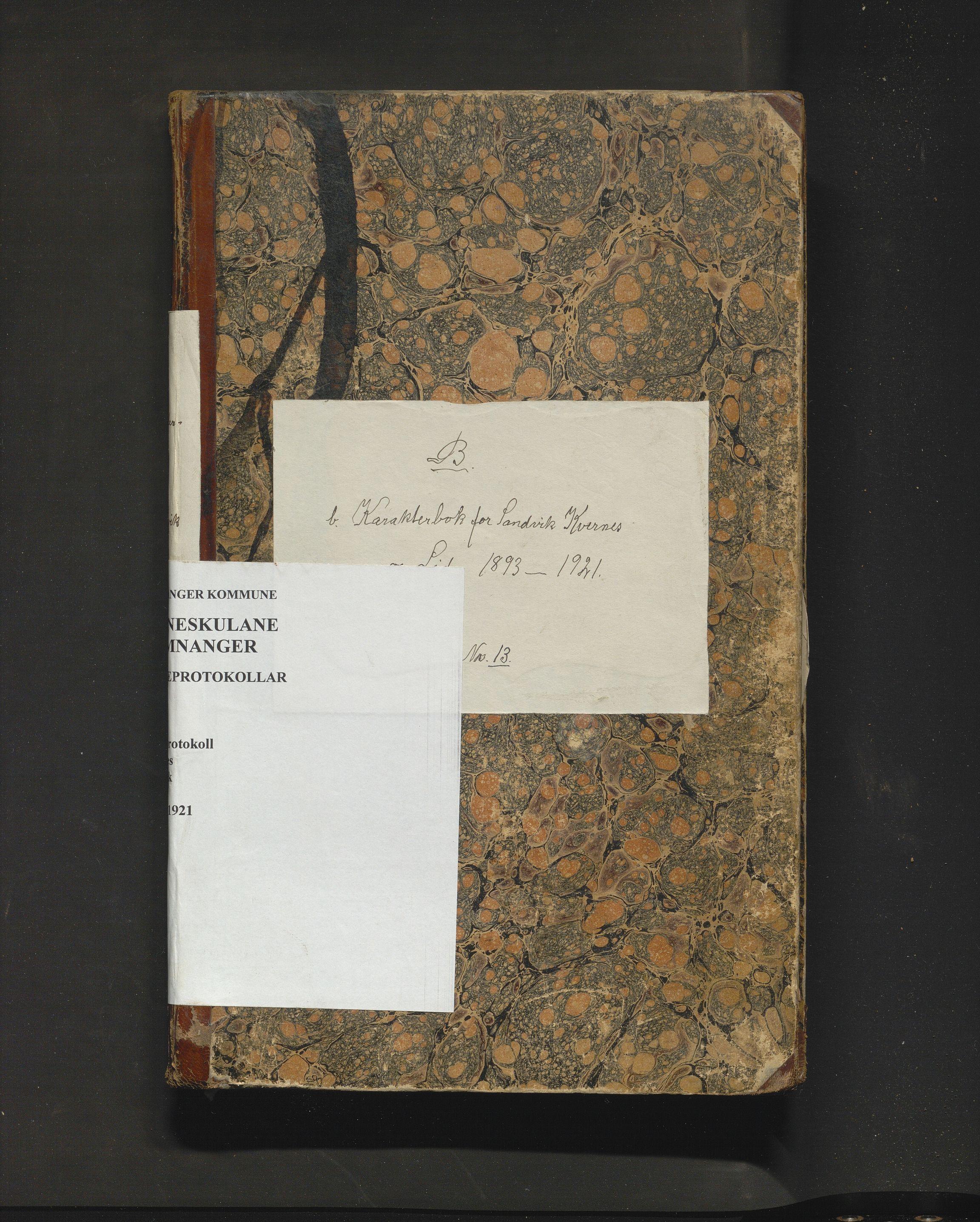 IKAH, Samnanger kommune. Barneskulane, F/Fa/L0005: Skuleprotokoll for læraren i Os prestegjeld, Samnanger sokn for krinsane, 1893-1921
