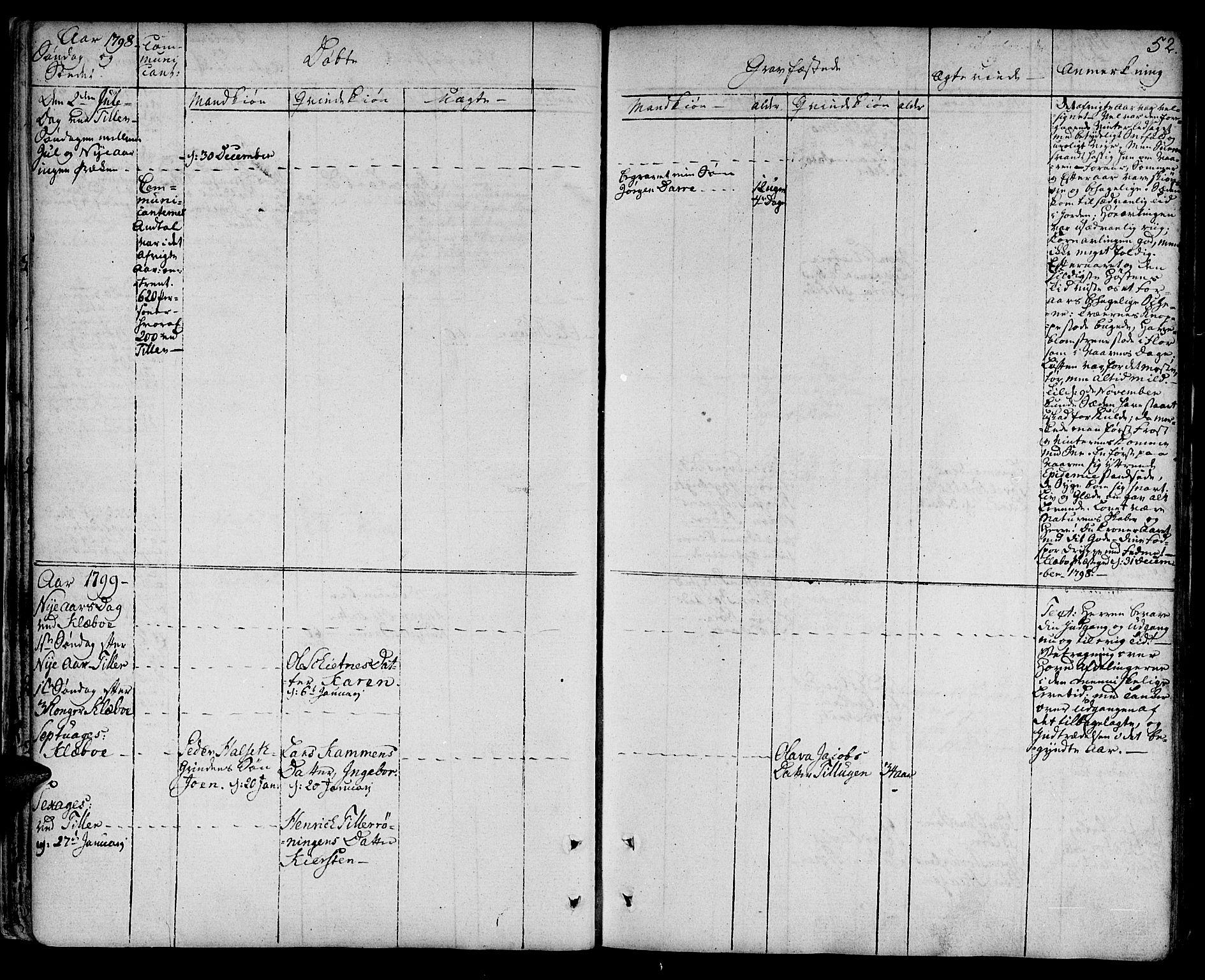 SAT, Ministerialprotokoller, klokkerbøker og fødselsregistre - Sør-Trøndelag, 618/L0438: Ministerialbok nr. 618A03, 1783-1815, s. 52