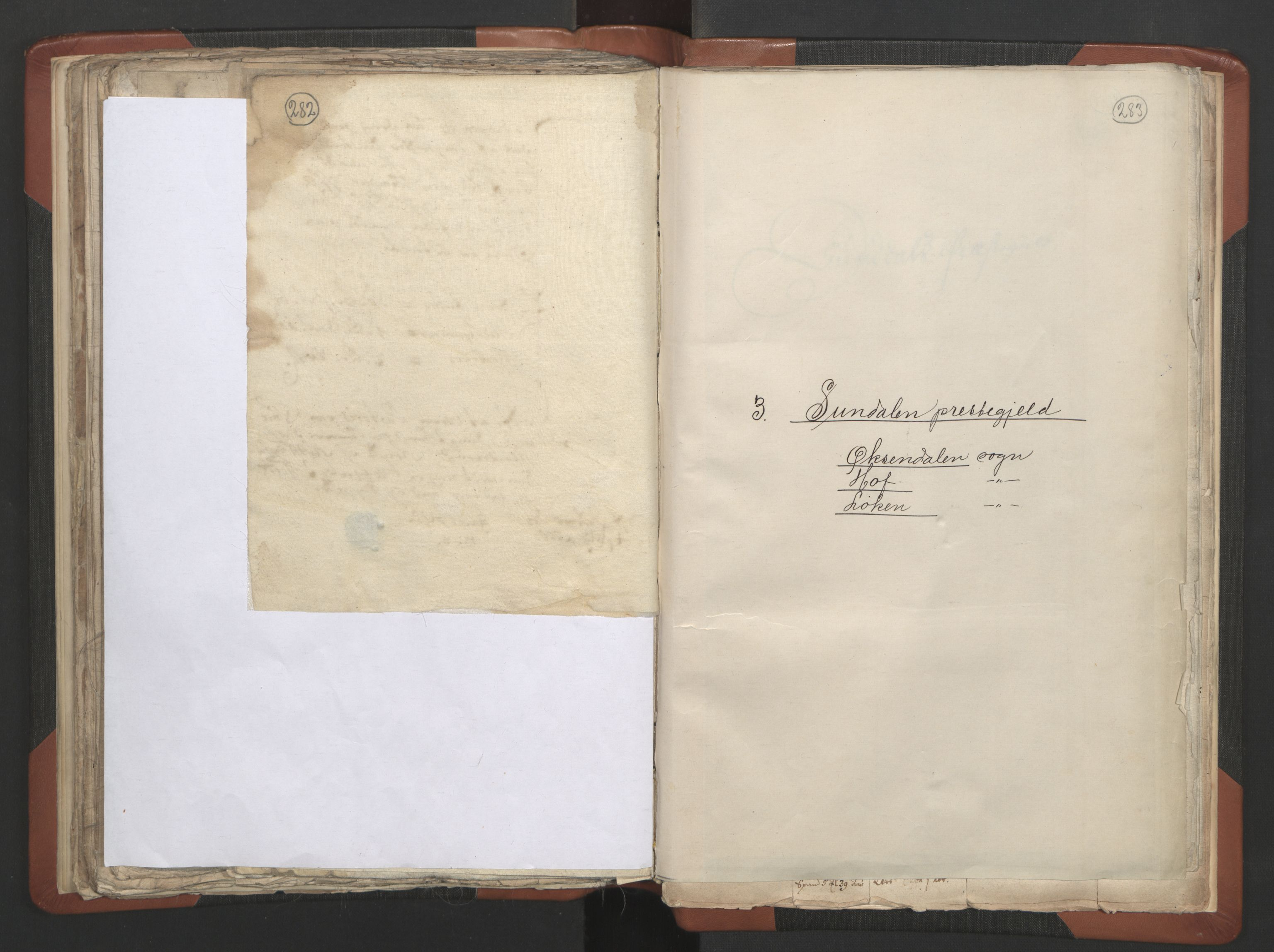 RA, Sogneprestenes manntall 1664-1666, nr. 28: Nordmøre prosti, 1664-1666, s. 282-283