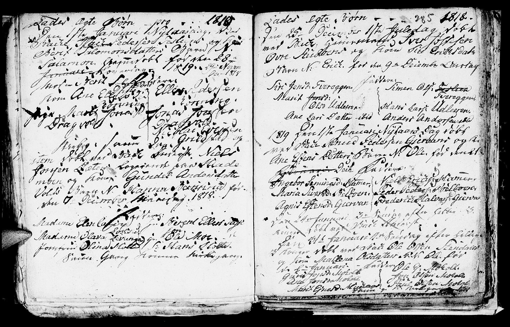 SAT, Ministerialprotokoller, klokkerbøker og fødselsregistre - Sør-Trøndelag, 606/L0305: Klokkerbok nr. 606C01, 1757-1819, s. 285