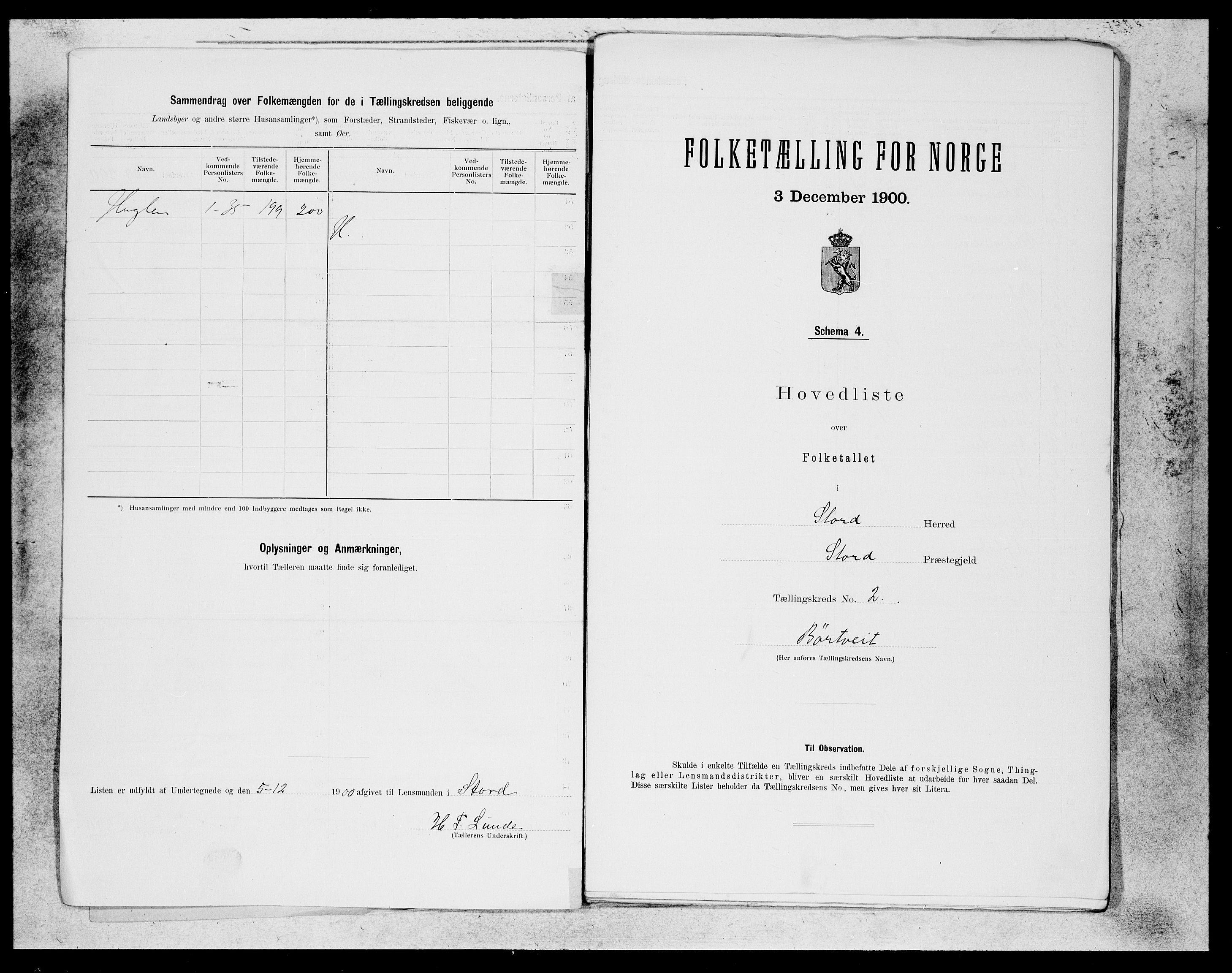 SAB, Folketelling 1900 for 1221 Stord herred, 1900, s. 3