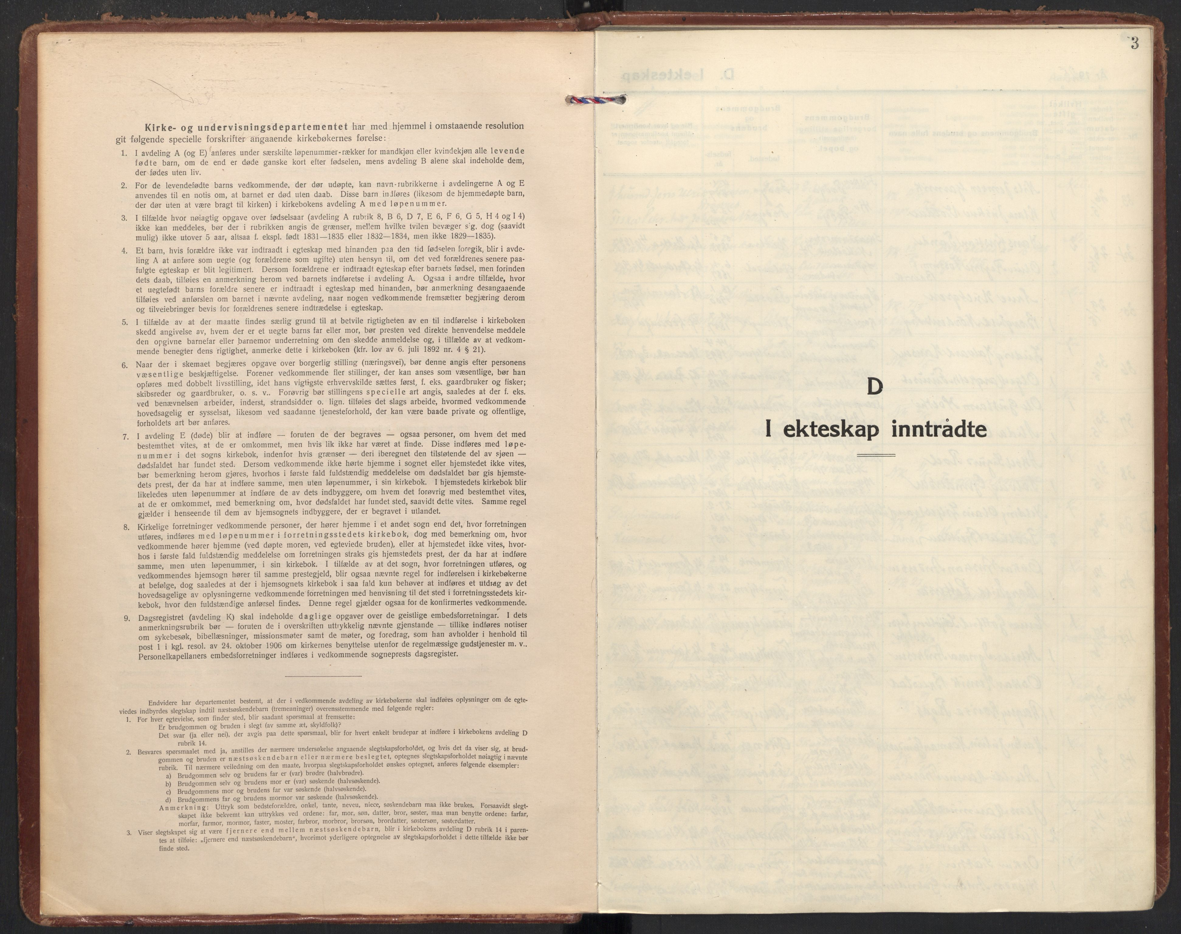 SAT, Ministerialprotokoller, klokkerbøker og fødselsregistre - Sør-Trøndelag, 605/L0249: Ministerialbok nr. 605A11, 1925-1936, s. 3
