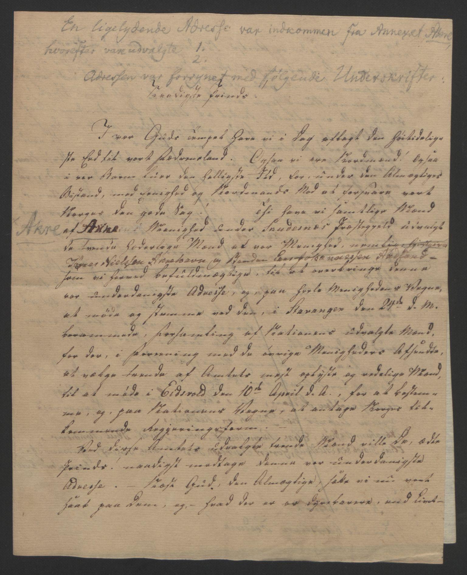 RA, Statsrådssekretariatet, D/Db/L0008: Fullmakter for Eidsvollsrepresentantene i 1814. , 1814, s. 245