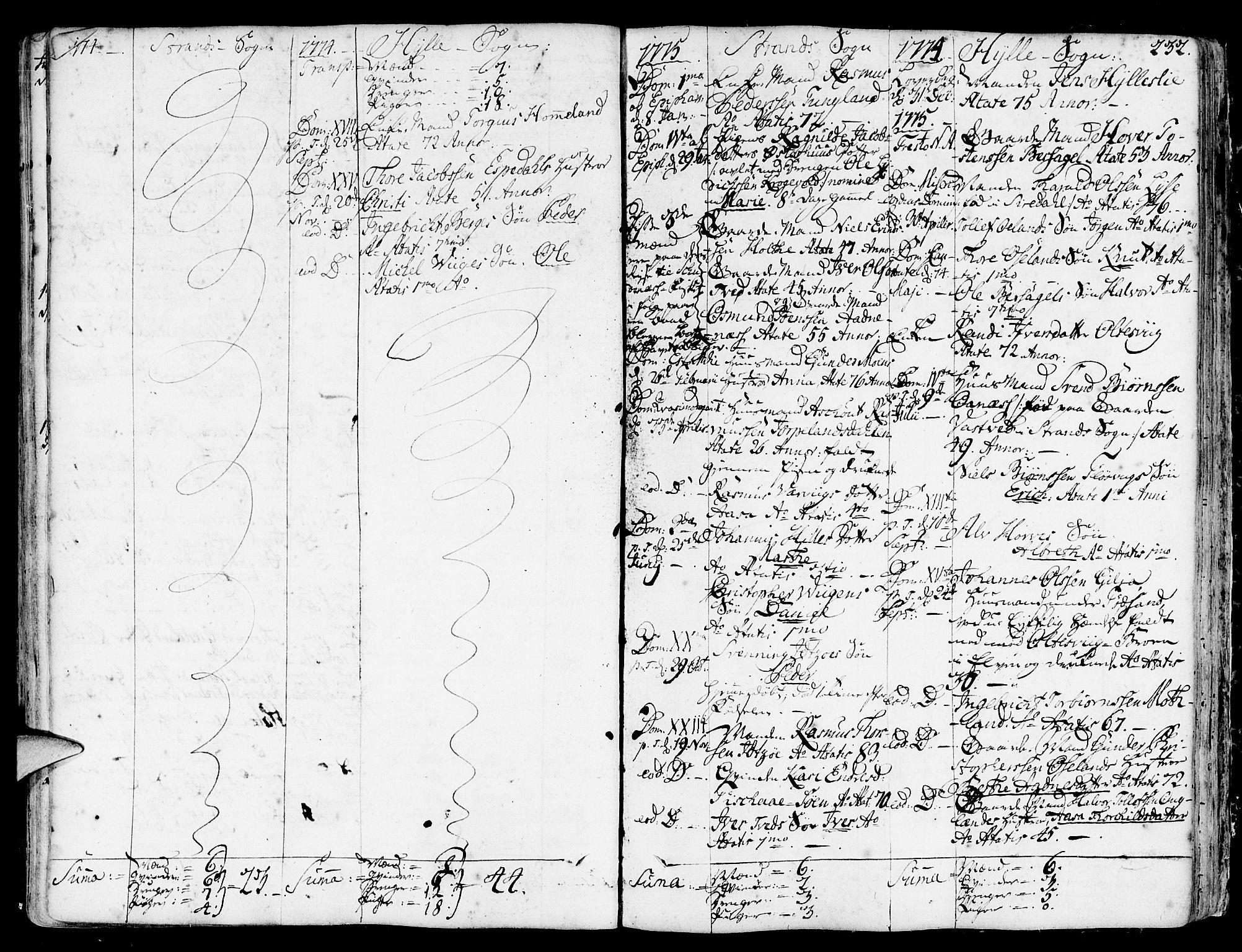 SAST, Strand sokneprestkontor, H/Ha/Haa/L0003: Ministerialbok nr. A 3, 1769-1816, s. 232