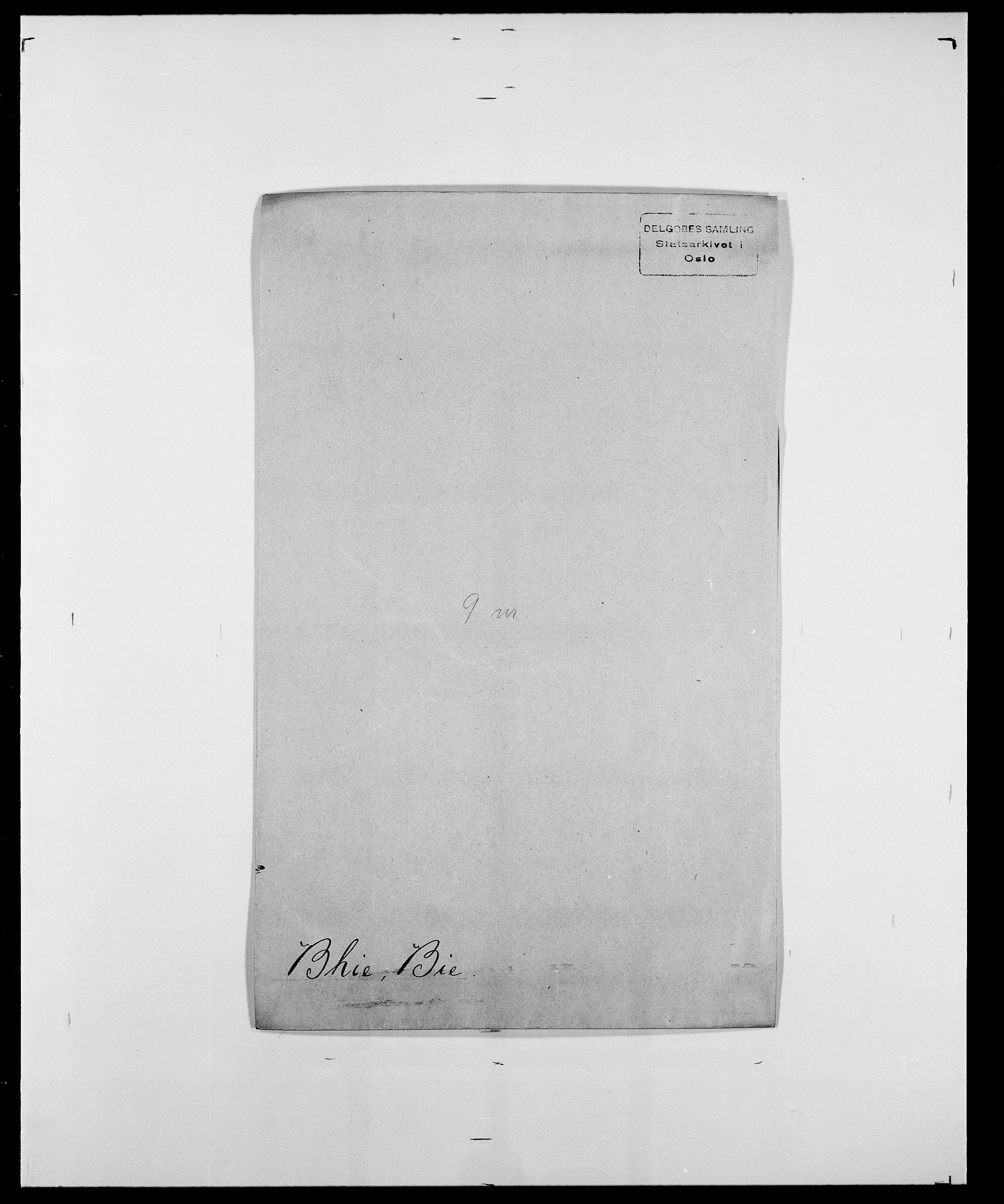 SAO, Delgobe, Charles Antoine - samling, D/Da/L0004: Bergendahl - Blære, s. 156