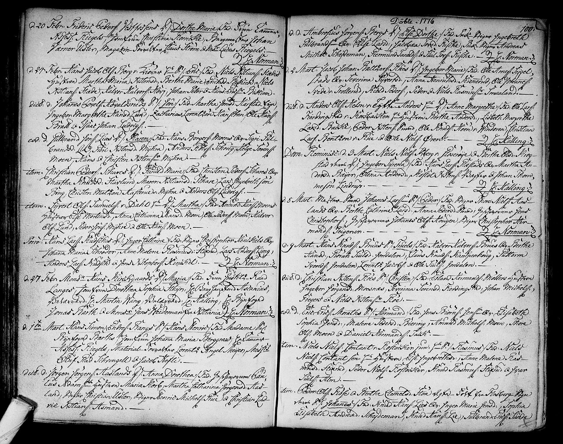 SAKO, Kongsberg kirkebøker, F/Fa/L0005: Ministerialbok nr. I 5, 1769-1782, s. 100