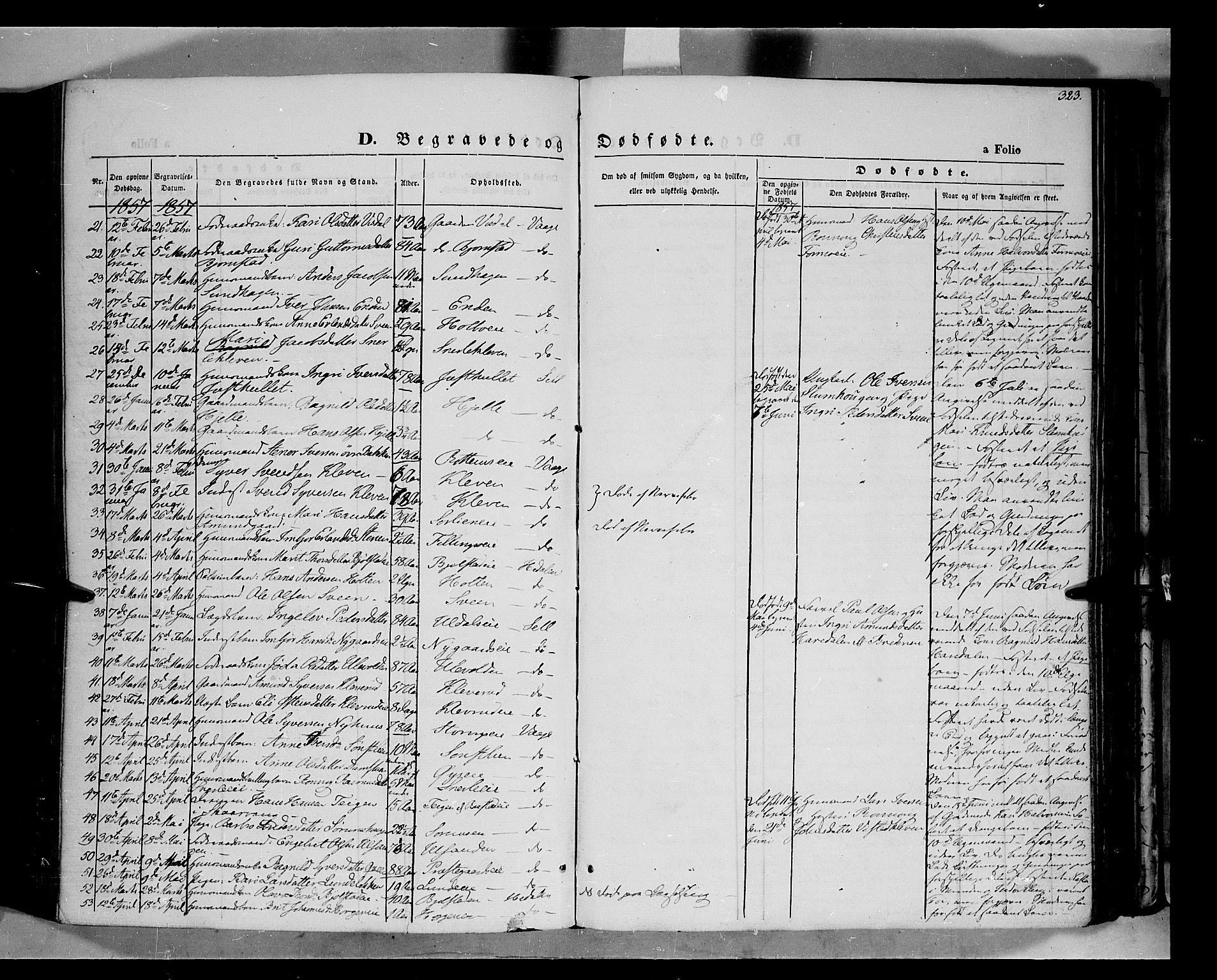 SAH, Vågå prestekontor, Ministerialbok nr. 6 /1, 1856-1872, s. 323