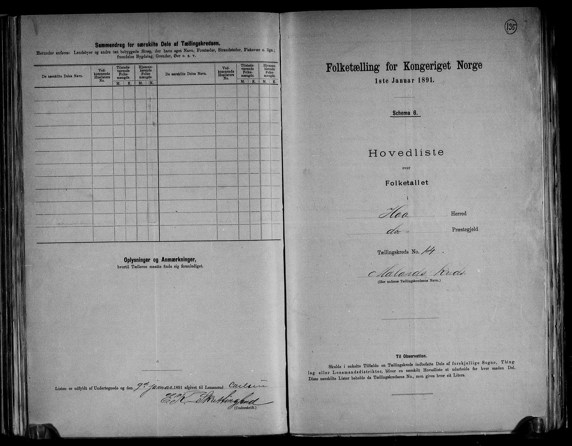 RA, Folketelling 1891 for 1119 Hå herred, 1891, s. 32