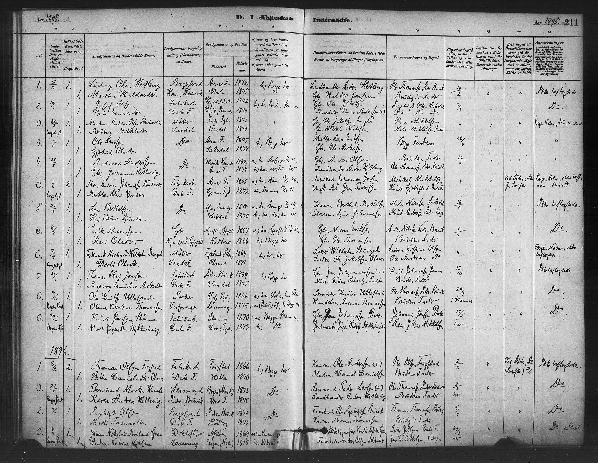 SAB, Bruvik Sokneprestembete, H/Haa: Ministerialbok nr. B 1, 1878-1904, s. 211