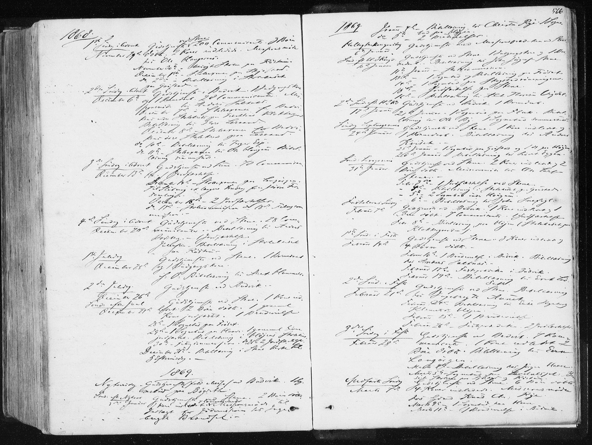 SAT, Ministerialprotokoller, klokkerbøker og fødselsregistre - Sør-Trøndelag, 612/L0377: Ministerialbok nr. 612A09, 1859-1877, s. 566