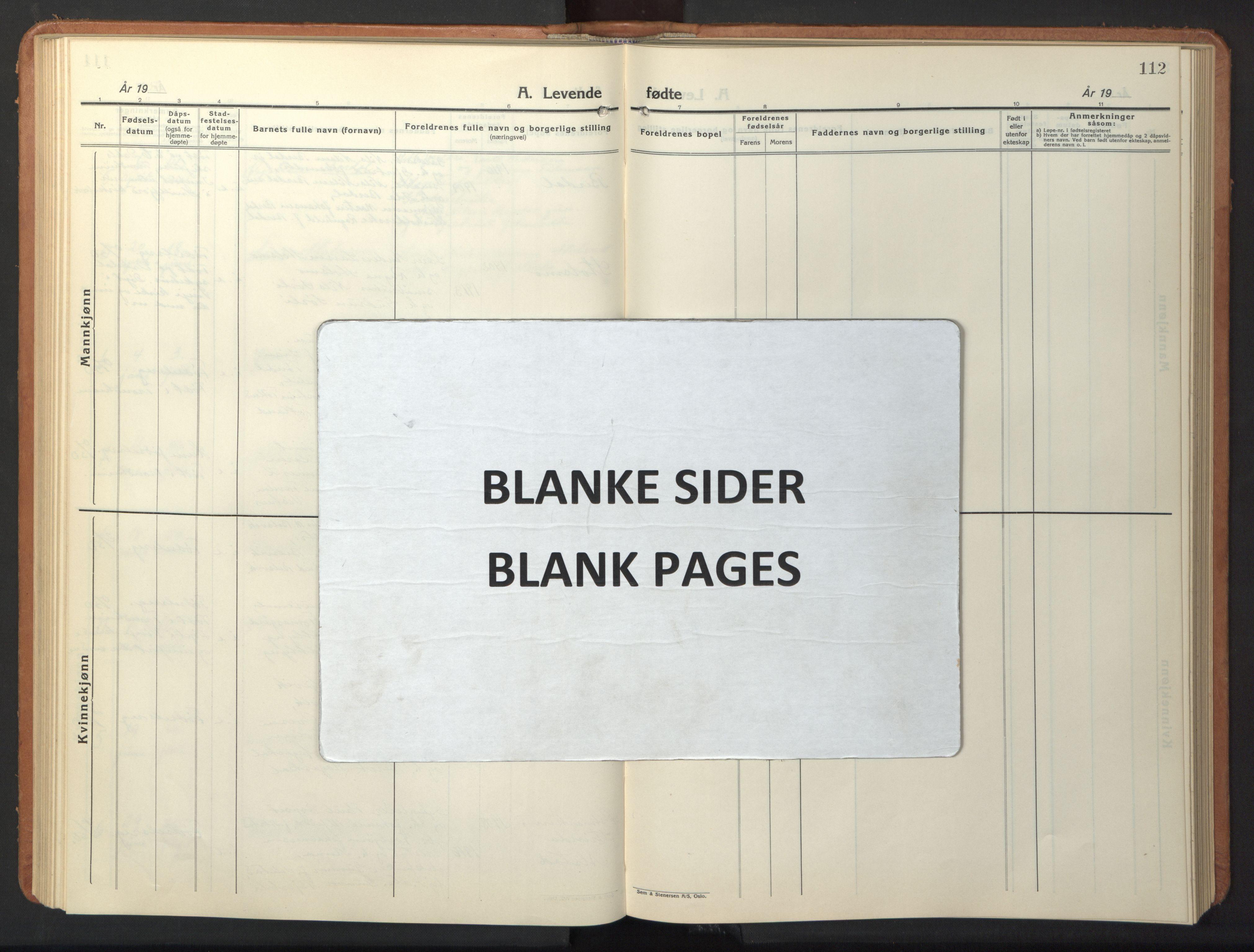 SAT, Ministerialprotokoller, klokkerbøker og fødselsregistre - Sør-Trøndelag, 630/L0508: Klokkerbok nr. 630C06, 1933-1950, s. 112