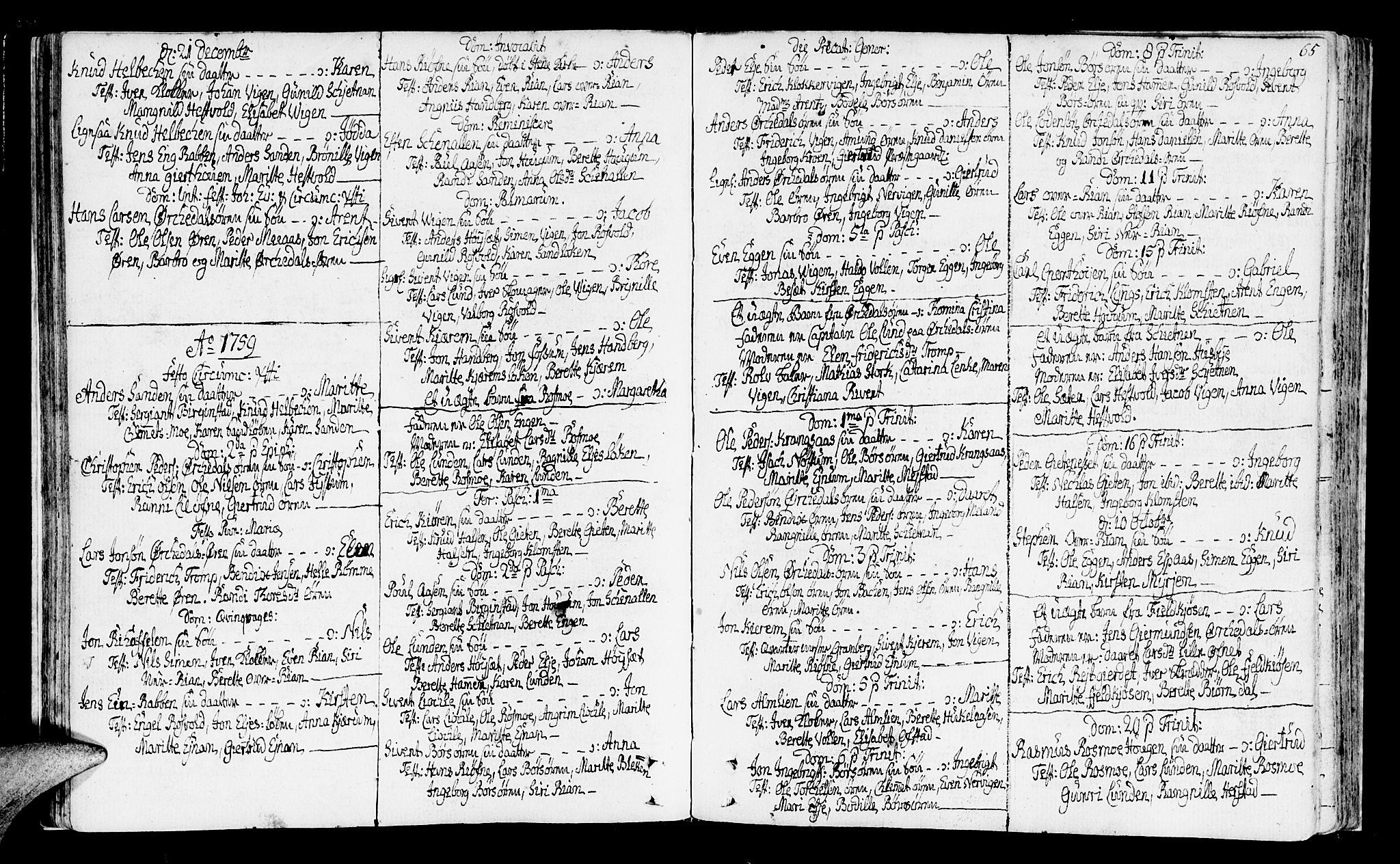 SAT, Ministerialprotokoller, klokkerbøker og fødselsregistre - Sør-Trøndelag, 665/L0768: Ministerialbok nr. 665A03, 1754-1803, s. 65