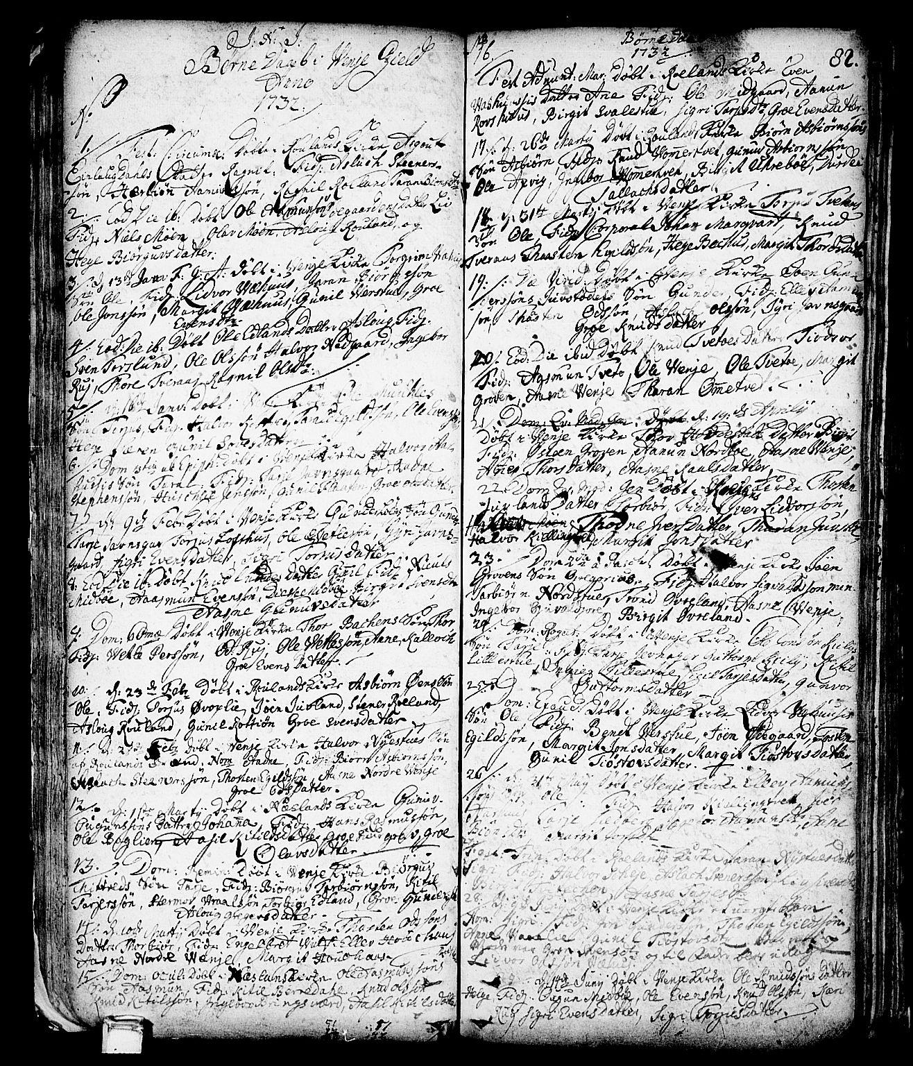 SAKO, Vinje kirkebøker, F/Fa/L0001: Ministerialbok nr. I 1, 1717-1766, s. 82