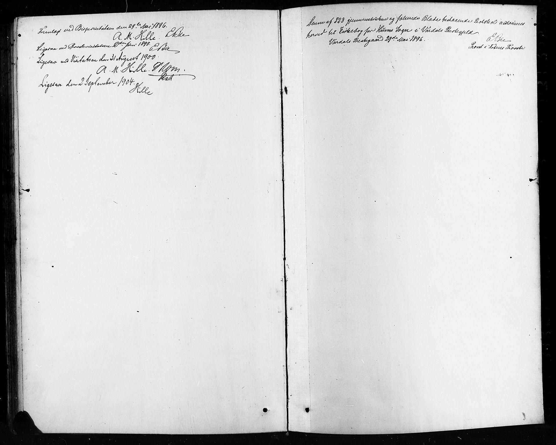 SAH, Vardal prestekontor, H/Ha/Hab/L0010: Klokkerbok nr. 10, 1895-1903