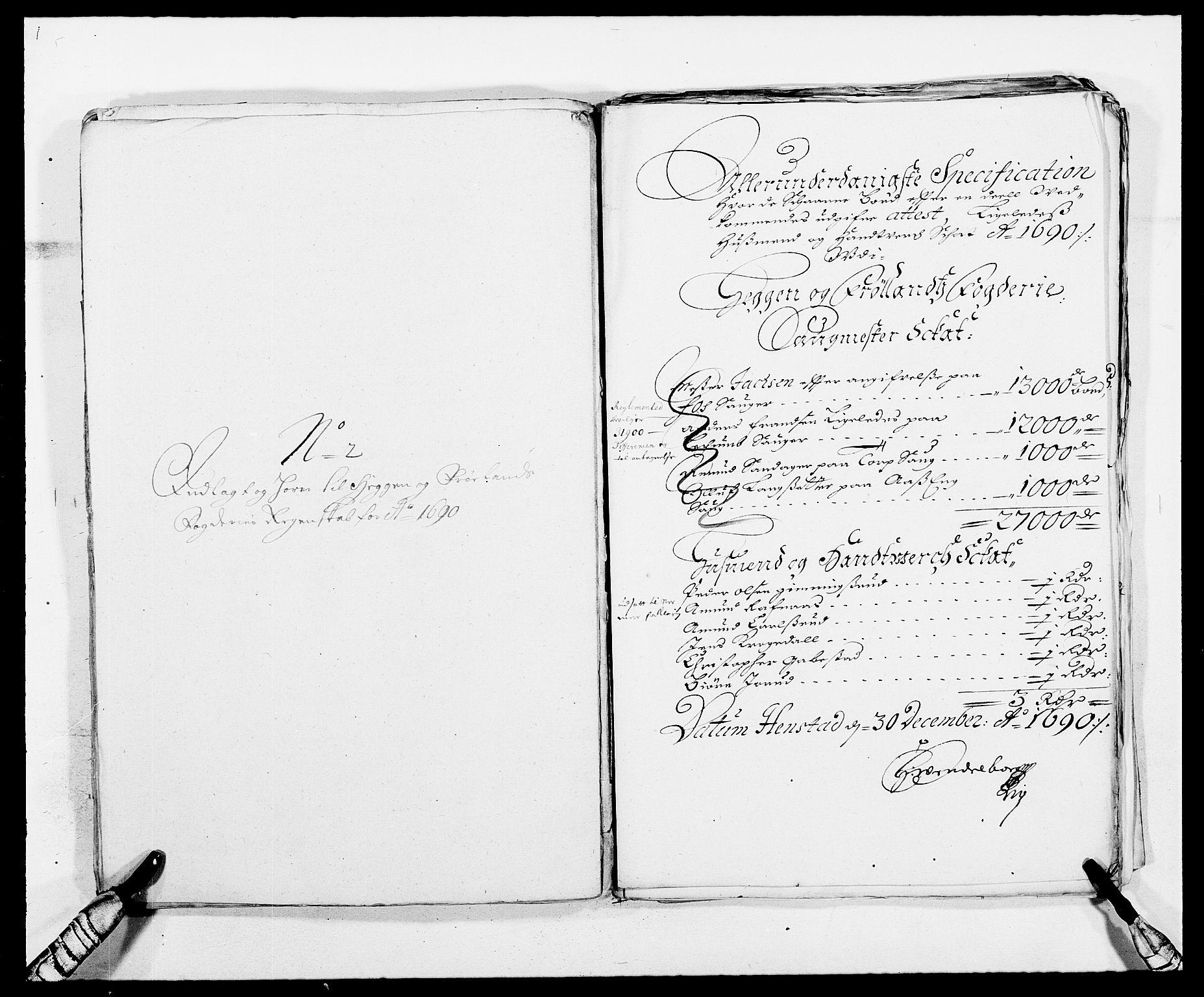 RA, Rentekammeret inntil 1814, Reviderte regnskaper, Fogderegnskap, R06/L0282: Fogderegnskap Heggen og Frøland, 1687-1690, s. 240