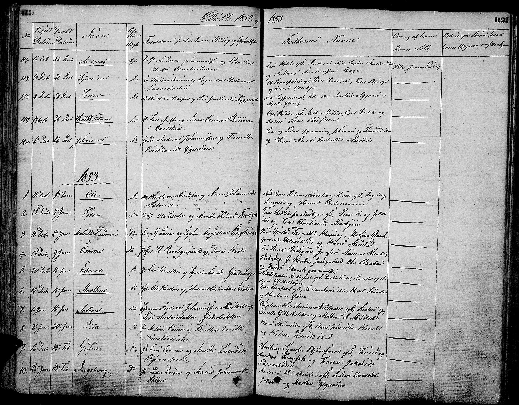 SAH, Vardal prestekontor, H/Ha/Hab/L0004: Klokkerbok nr. 4, 1831-1853, s. 112