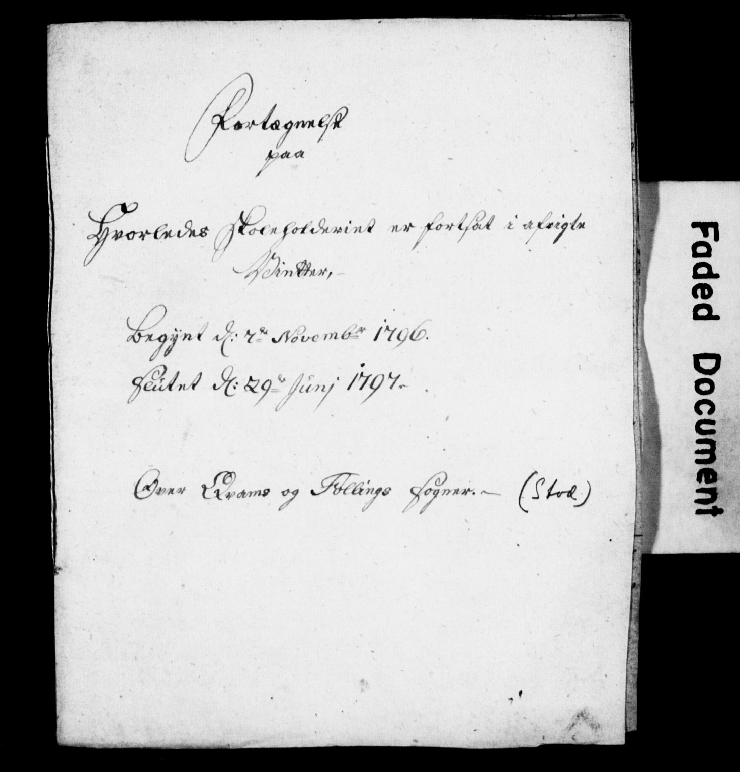 SAT, Nidaros biskop*, 1796, s. upaginert