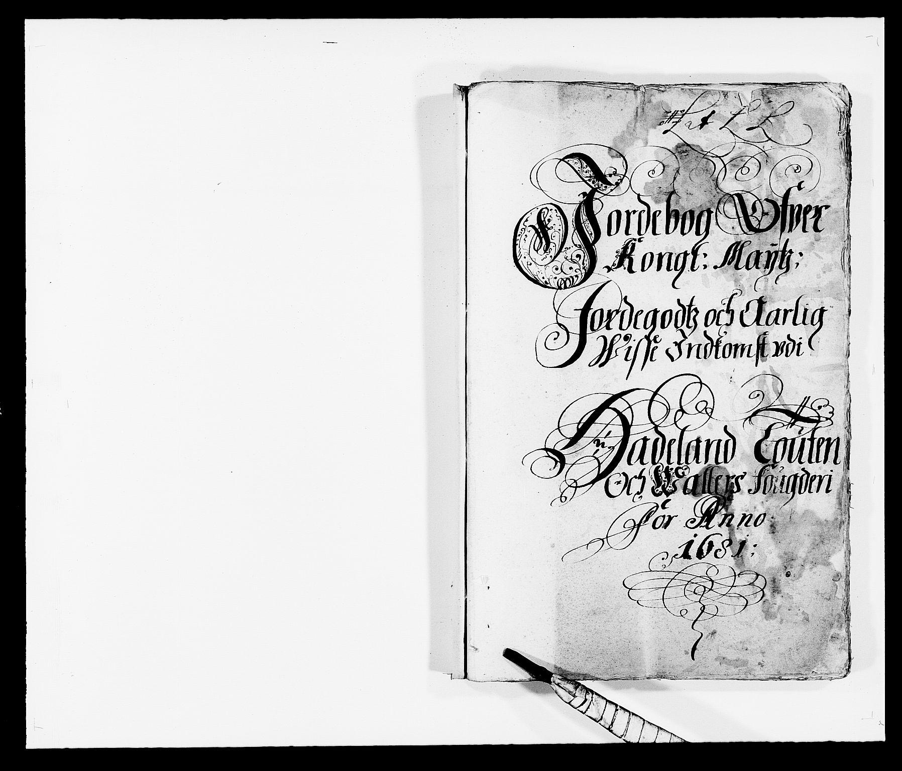 RA, Rentekammeret inntil 1814, Reviderte regnskaper, Fogderegnskap, R18/L1278: Fogderegnskap Hadeland, Toten og Valdres, 1681, s. 1