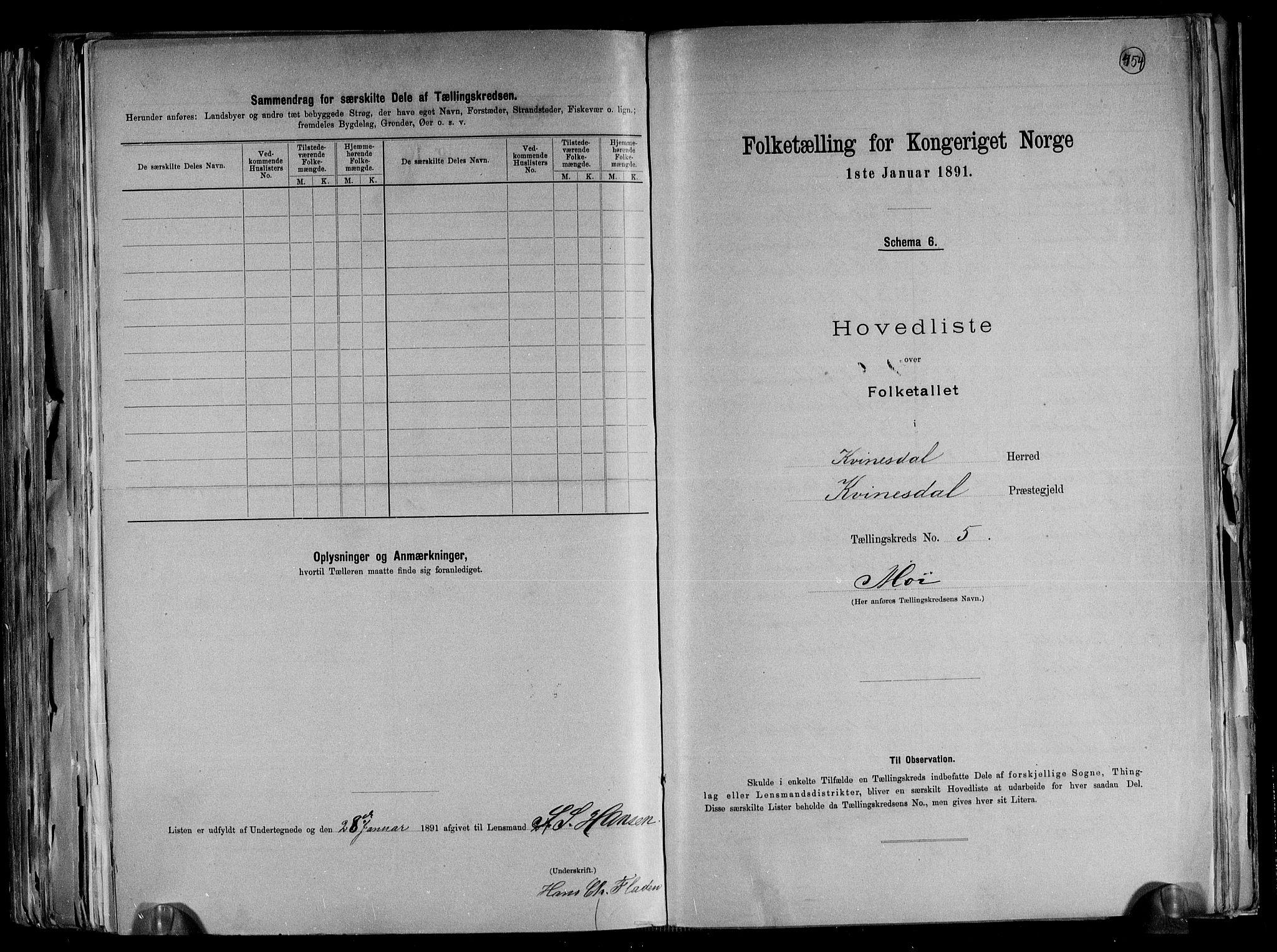 RA, Folketelling 1891 for 1037 Kvinesdal herred, 1891, s. 16
