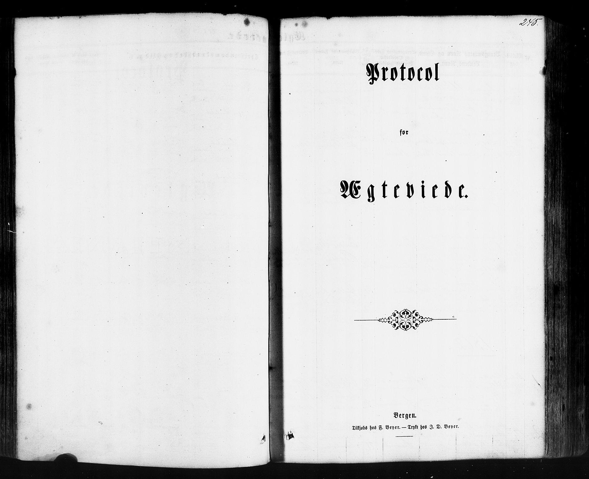 SAB, Hyllestad Sokneprestembete, Ministerialbok nr. A 1, 1861-1886, s. 245