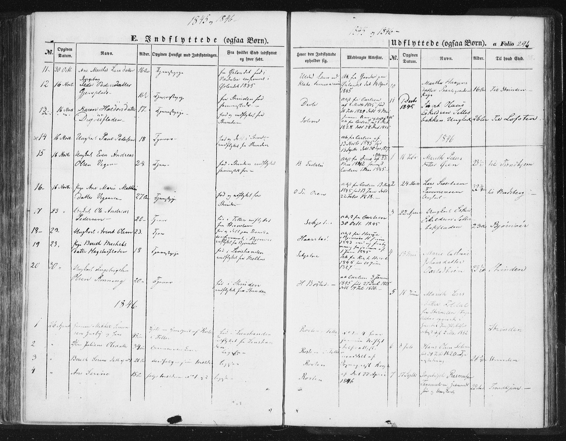 SAT, Ministerialprotokoller, klokkerbøker og fødselsregistre - Sør-Trøndelag, 618/L0441: Ministerialbok nr. 618A05, 1843-1862, s. 291