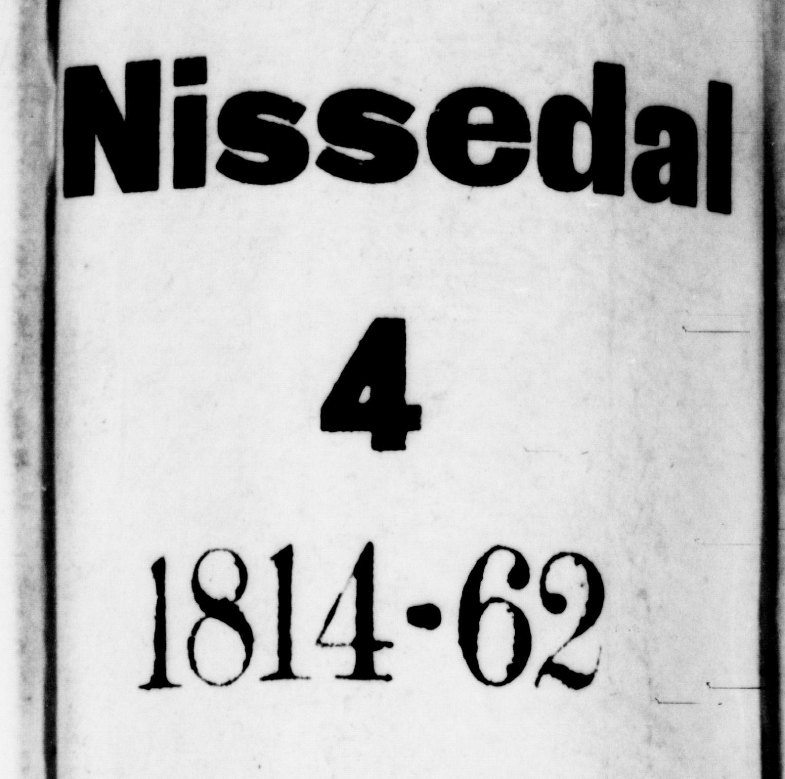 SAKO, Nissedal kirkebøker, G/Gb/L0001: Klokkerbok nr. II 1, 1814-1862