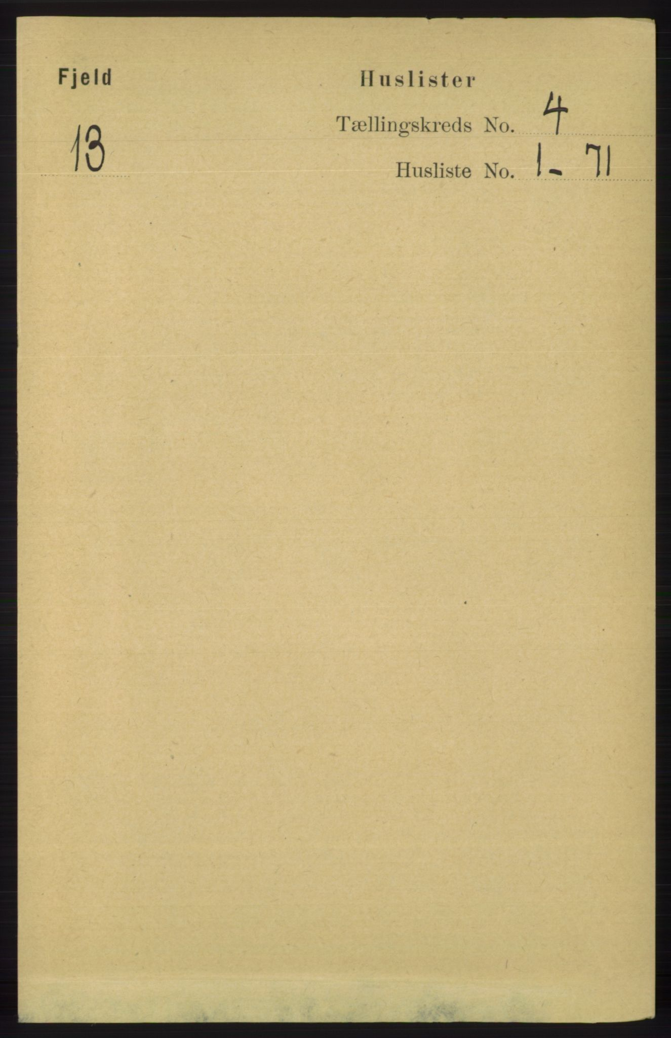 RA, Folketelling 1891 for 1246 Fjell herred, 1891, s. 1953