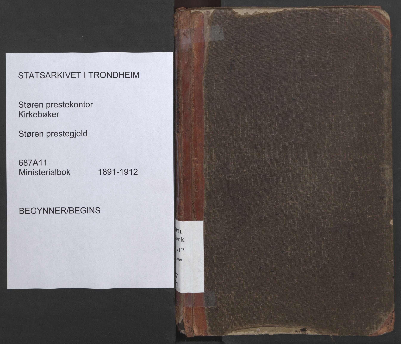 SAT, Ministerialprotokoller, klokkerbøker og fødselsregistre - Sør-Trøndelag, 687/L1005: Dagregister nr. 687A11, 1891-1912