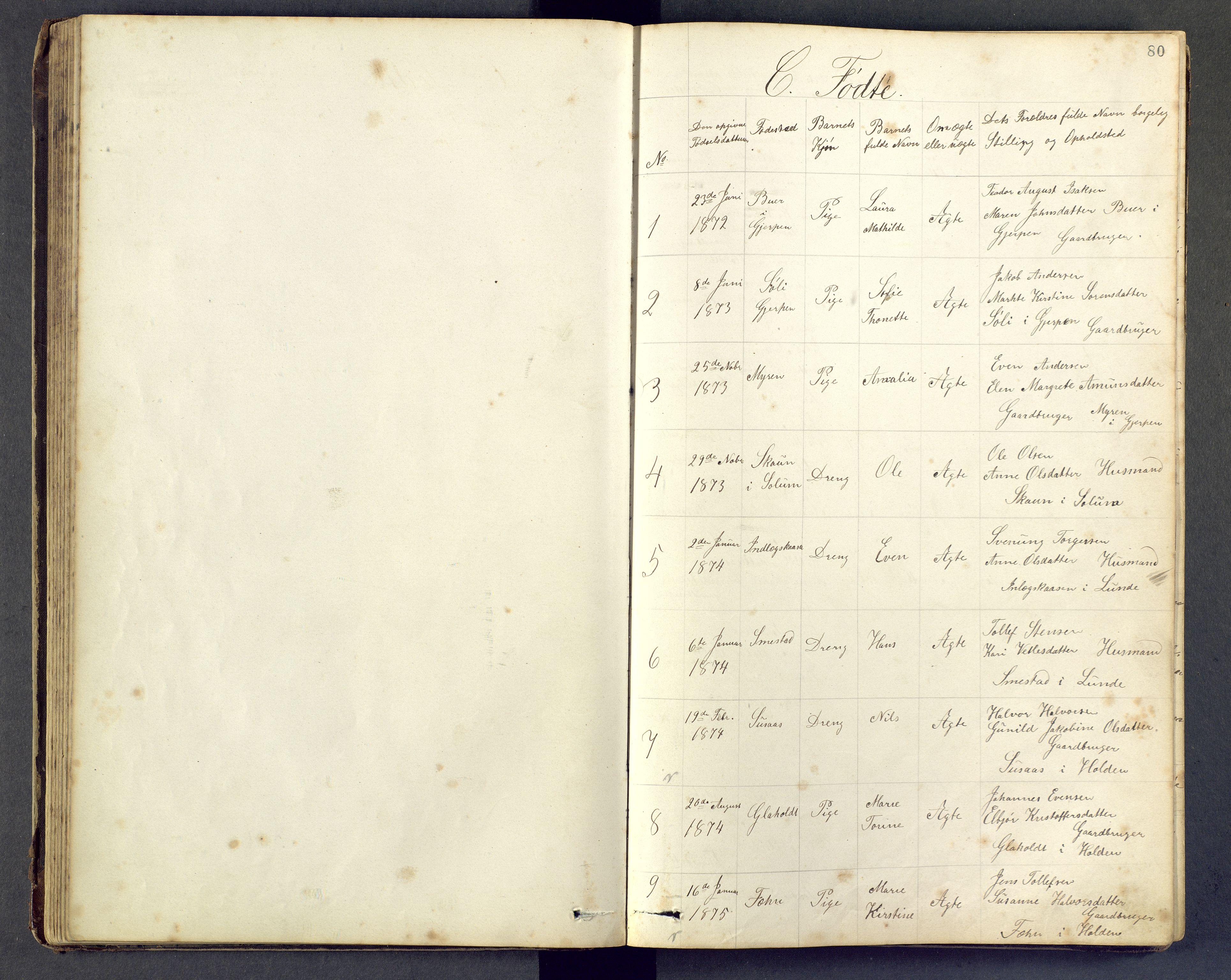 SAKO, Den evangeliske lutherske frimenighet (SAKO), Dissenterprotokoll nr. Fa/L0001, 1872-1906, s. 80