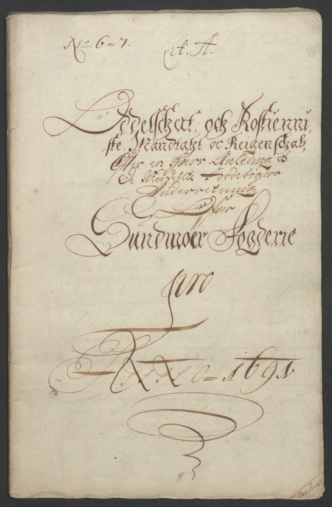RA, Rentekammeret inntil 1814, Reviderte regnskaper, Fogderegnskap, R54/L3554: Fogderegnskap Sunnmøre, 1691-1693, s. 28
