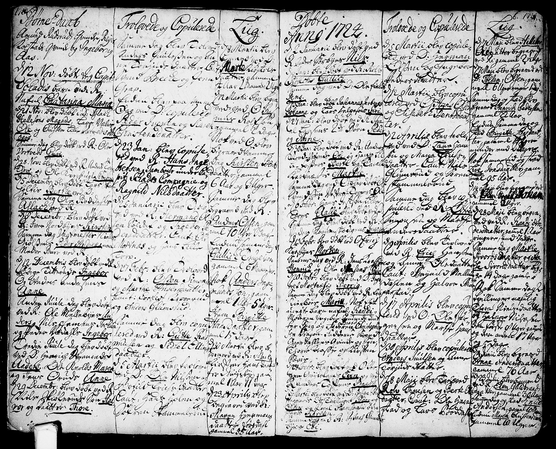 SAO, Rakkestad prestekontor Kirkebøker, F/Fa/L0001: Ministerialbok nr. I 1, 1722-1740, s. 6