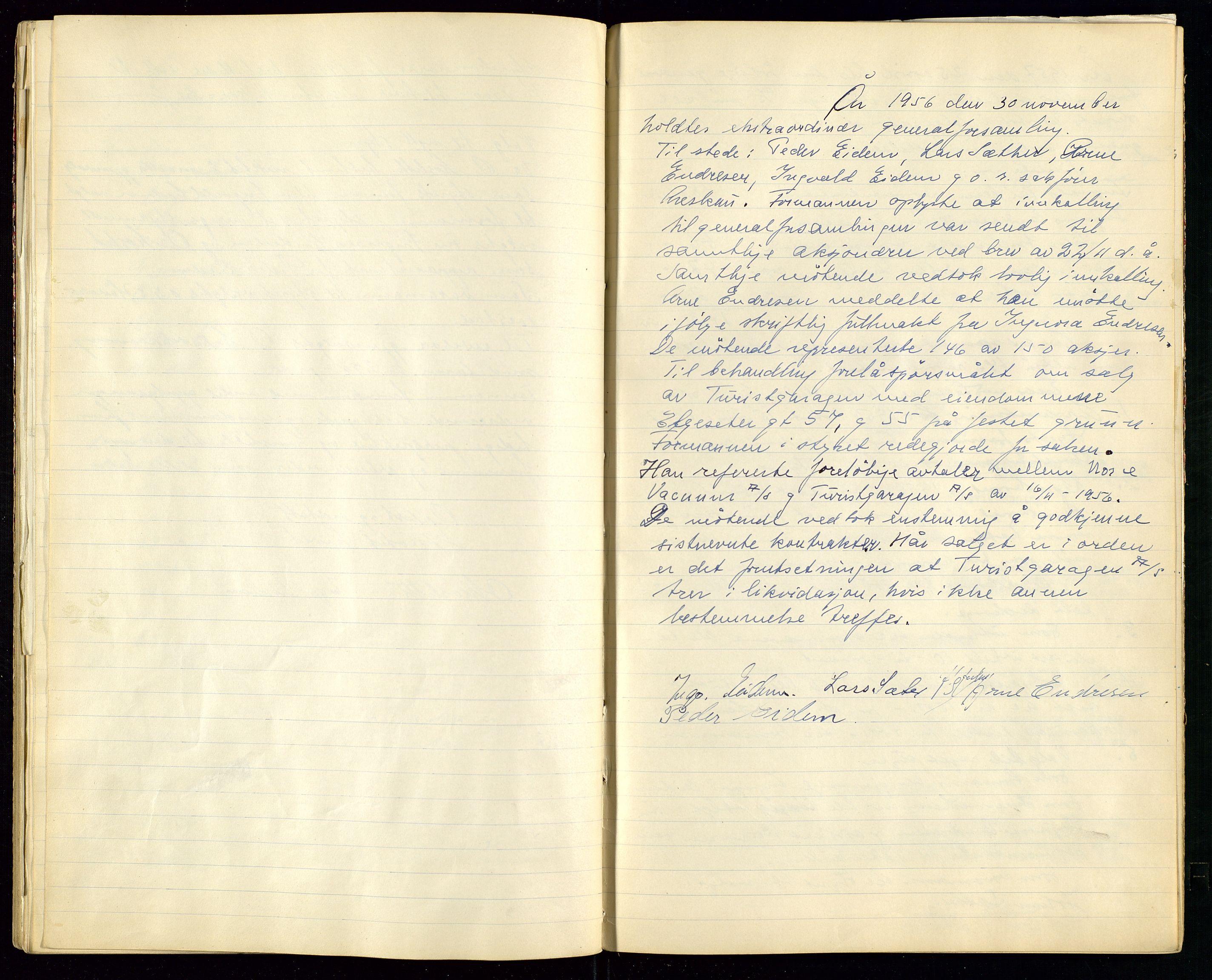 SAST, PA 1515 - Turistgarasjen A/S, A/L0001: Forhandlingsprotokoll, 1937-1958, s. 43