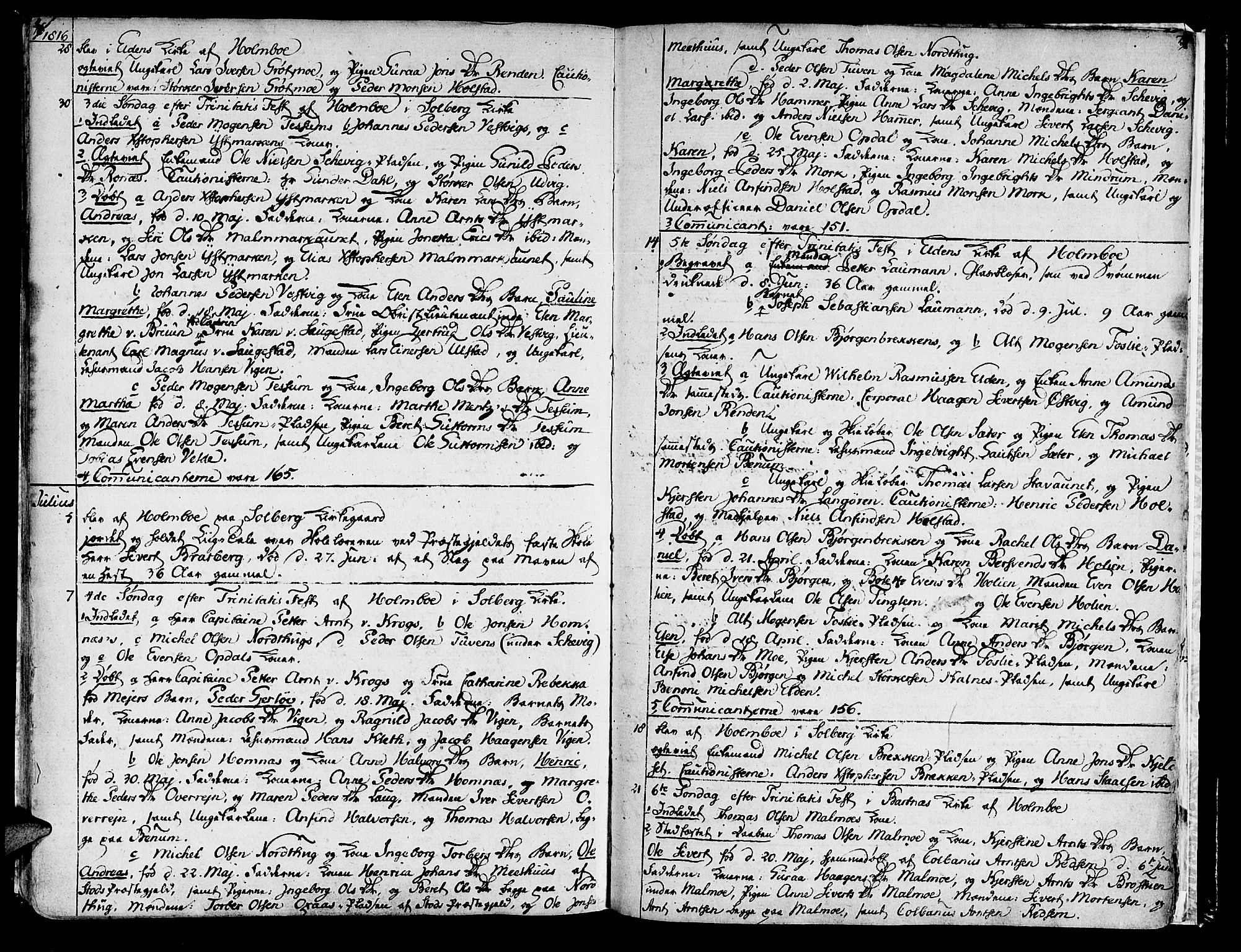 SAT, Ministerialprotokoller, klokkerbøker og fødselsregistre - Nord-Trøndelag, 741/L0386: Ministerialbok nr. 741A02, 1804-1816, s. 76-77