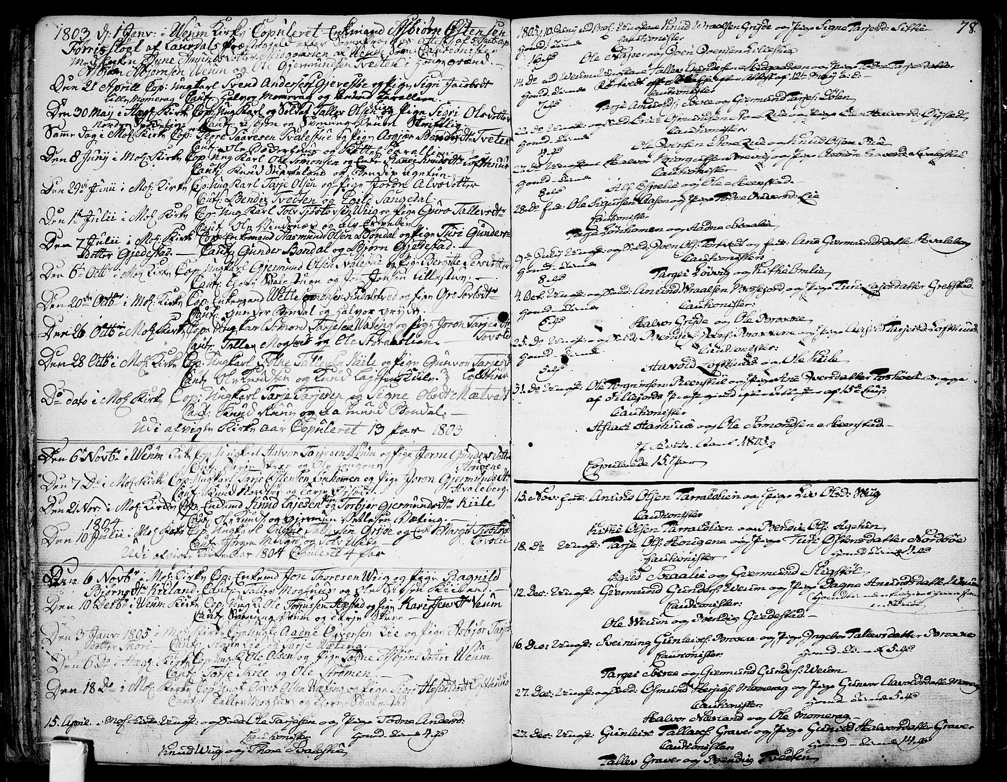 SAKO, Fyresdal kirkebøker, F/Fa/L0002: Ministerialbok nr. I 2, 1769-1814, s. 78