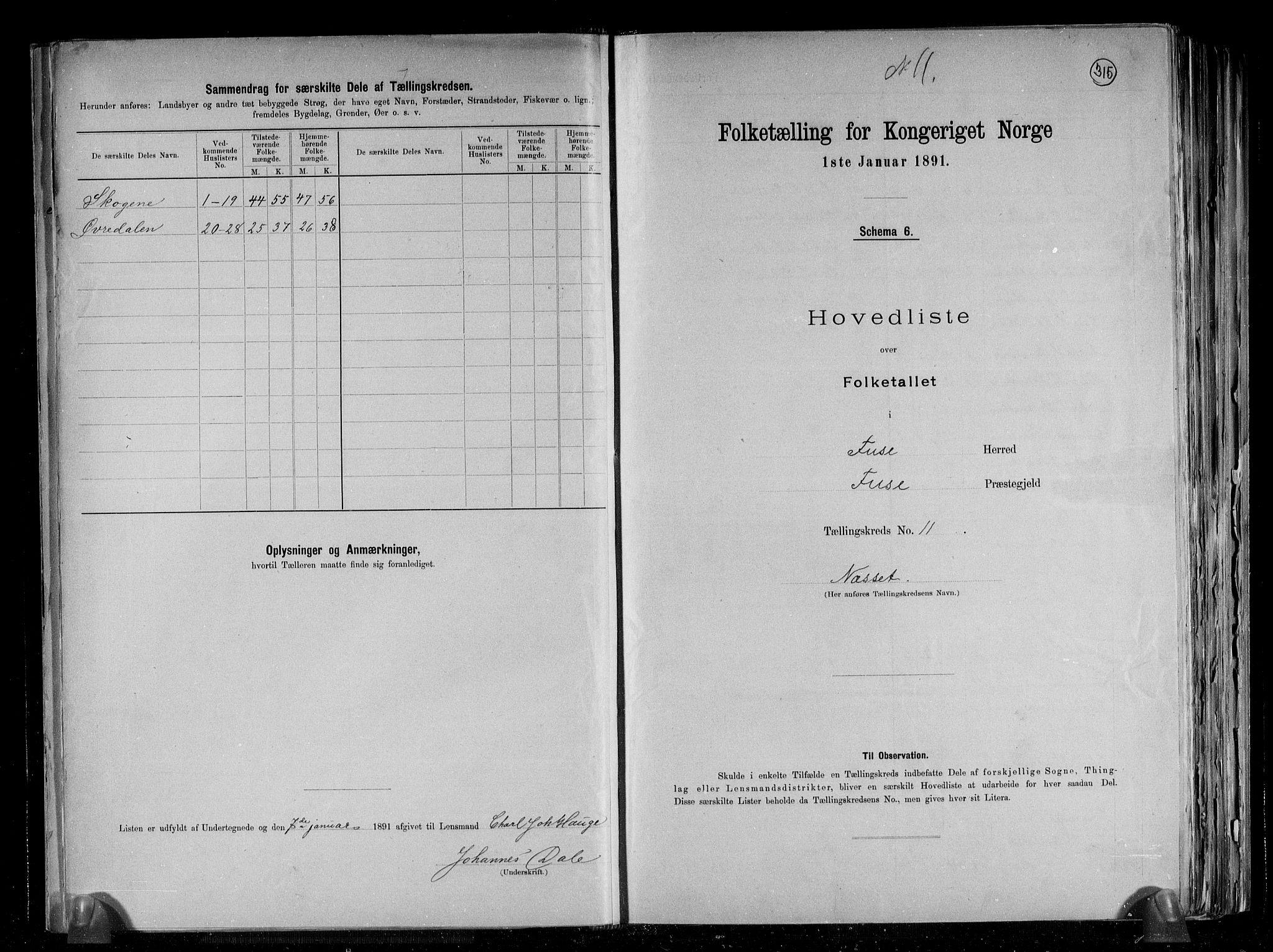 RA, Folketelling 1891 for 1241 Fusa herred, 1891, s. 24