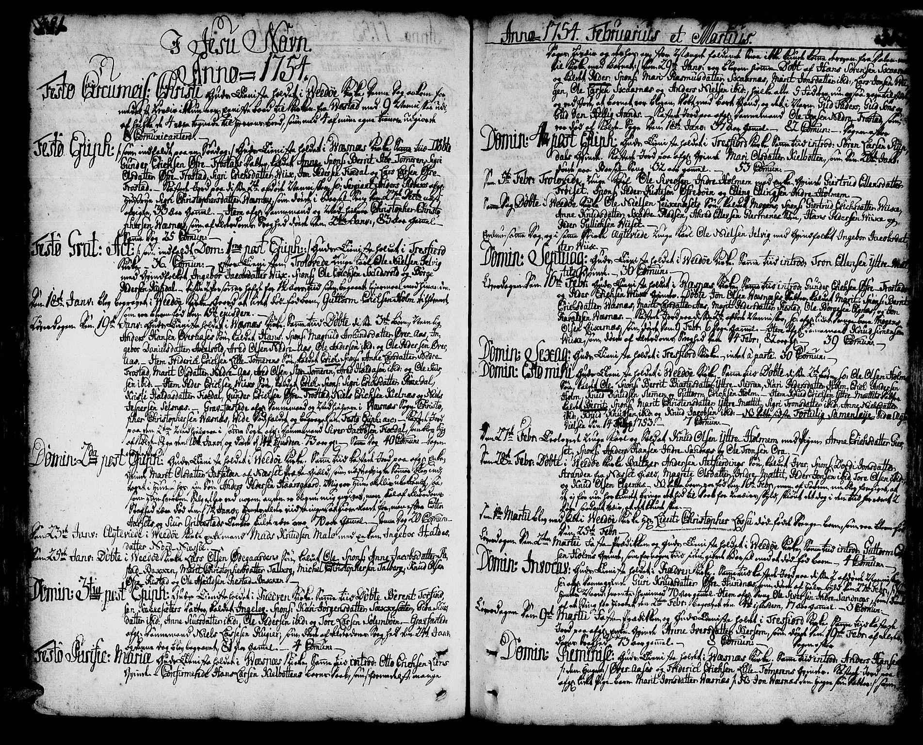 SAT, Ministerialprotokoller, klokkerbøker og fødselsregistre - Møre og Romsdal, 547/L0599: Ministerialbok nr. 547A01, 1721-1764, s. 381-382
