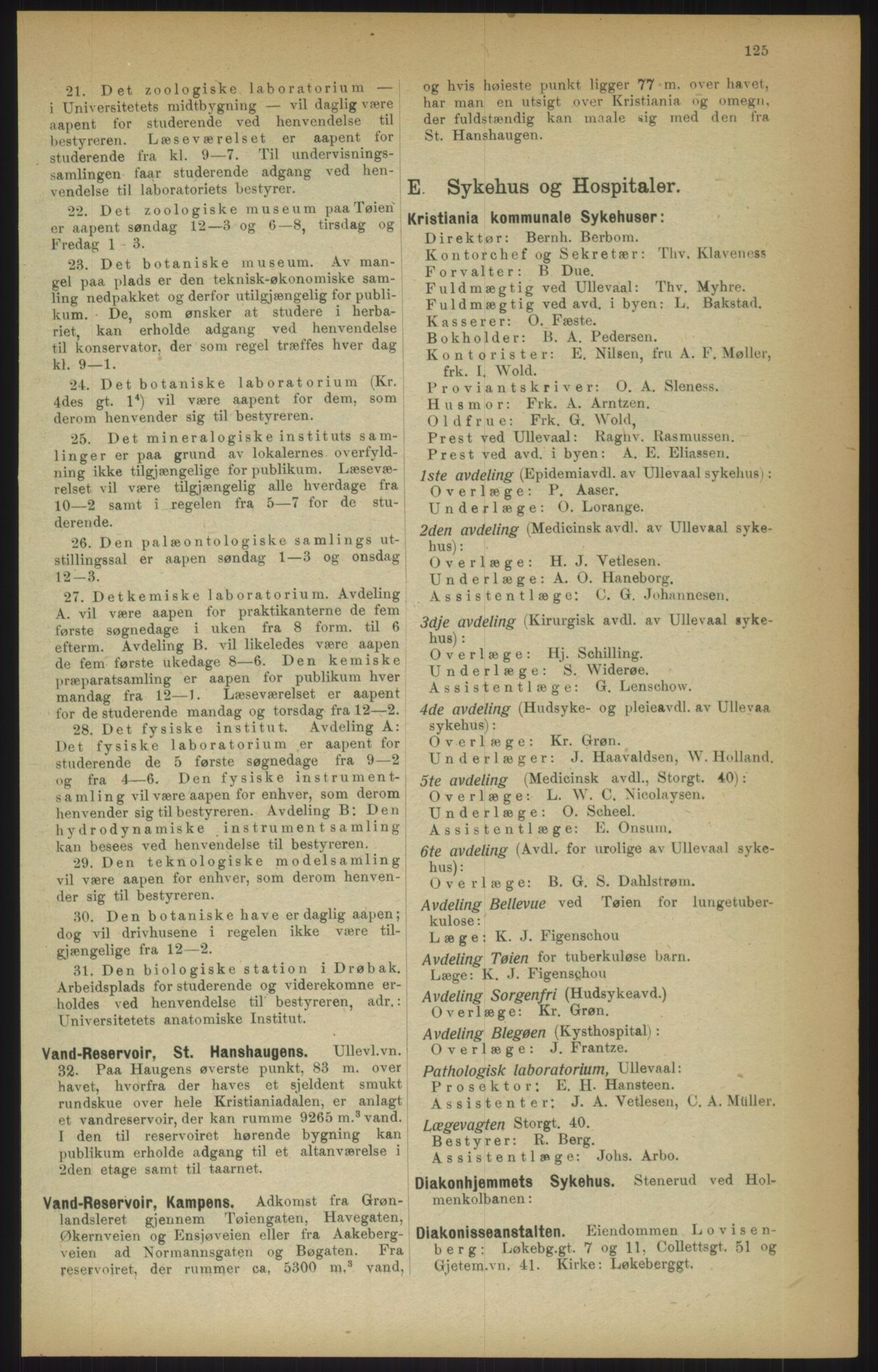 RA, Kristiania adressebok (publikasjon)*, 1915, s. 125