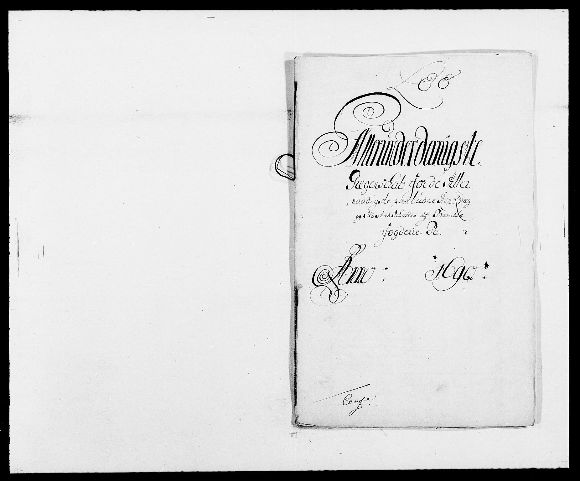 RA, Rentekammeret inntil 1814, Reviderte regnskaper, Fogderegnskap, R34/L2051: Fogderegnskap Bamble, 1688-1691, s. 133
